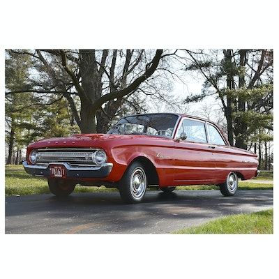 1961 Ford Falcon Futura Sedan in Monte Carlo Red