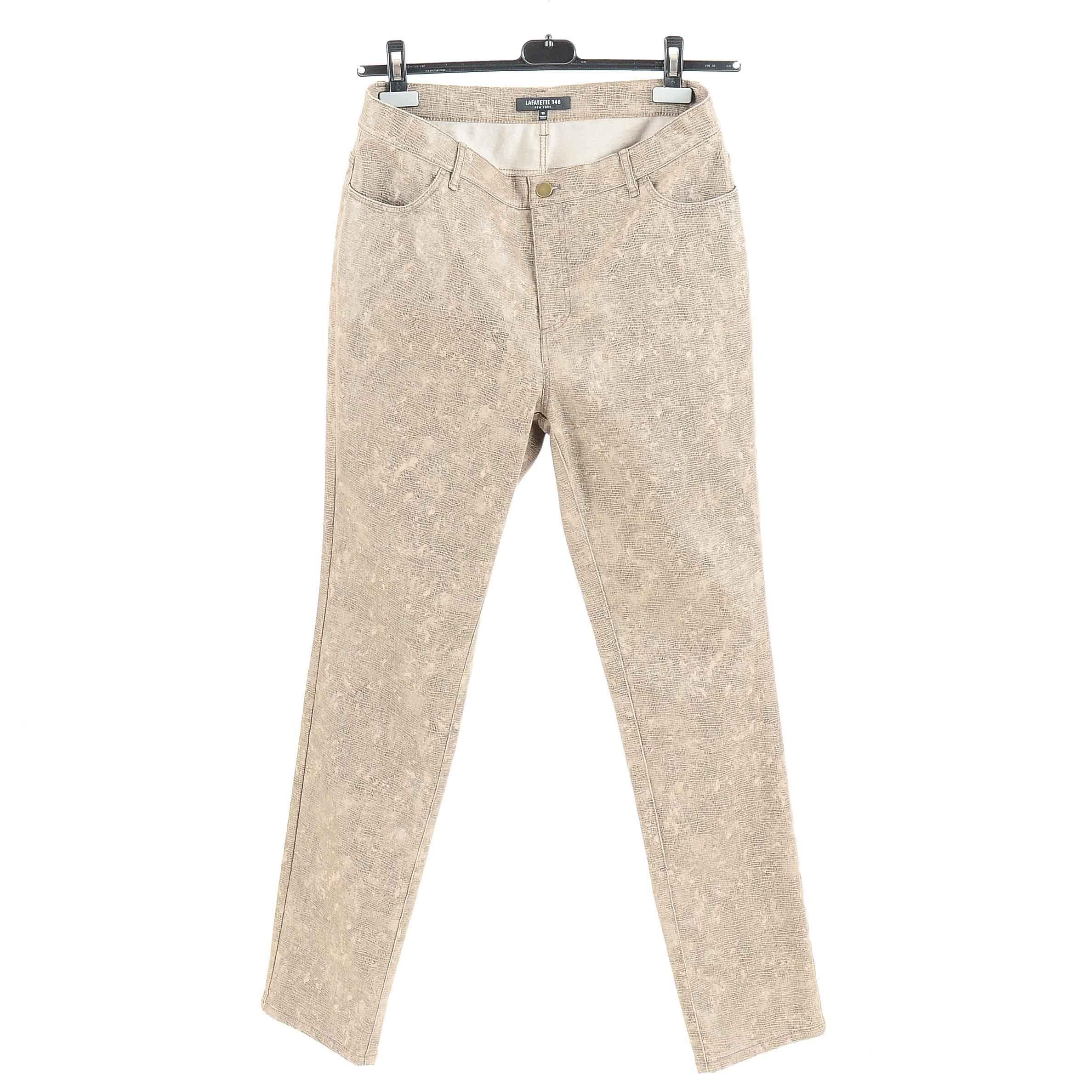Women's Lafayette148 Faux Tan Snakeskin Jeans