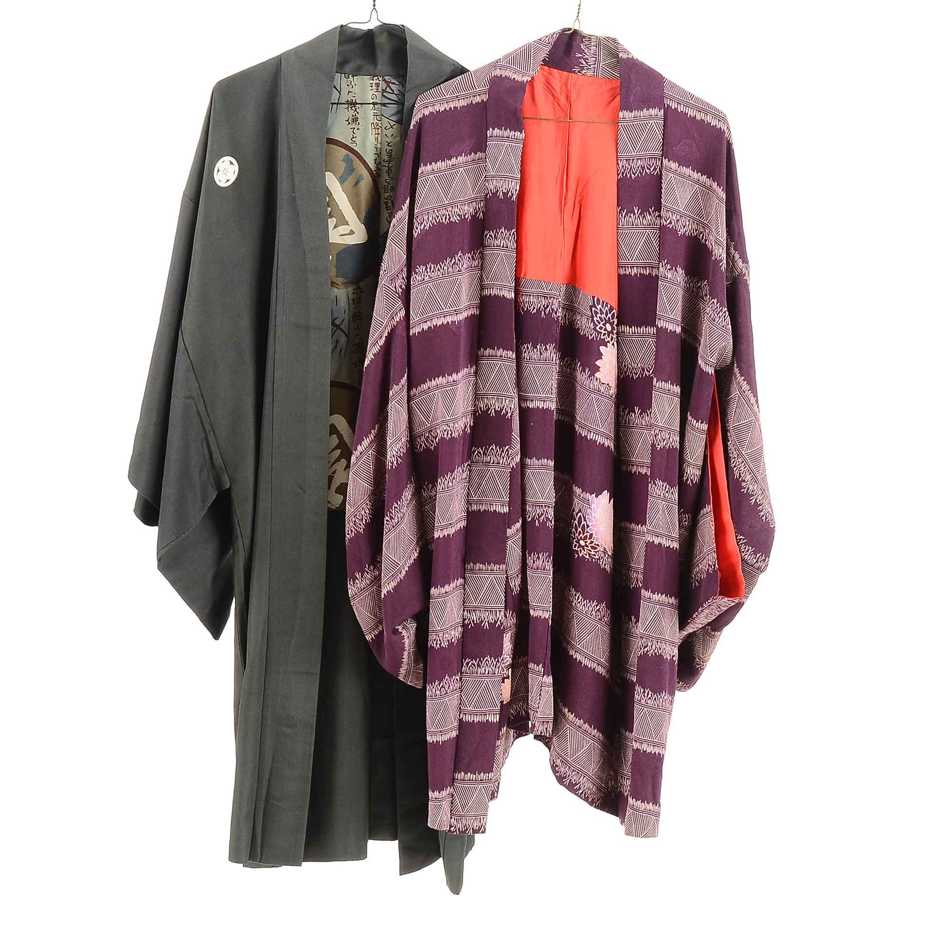 Vintage Japanese Silk Haori Jackets