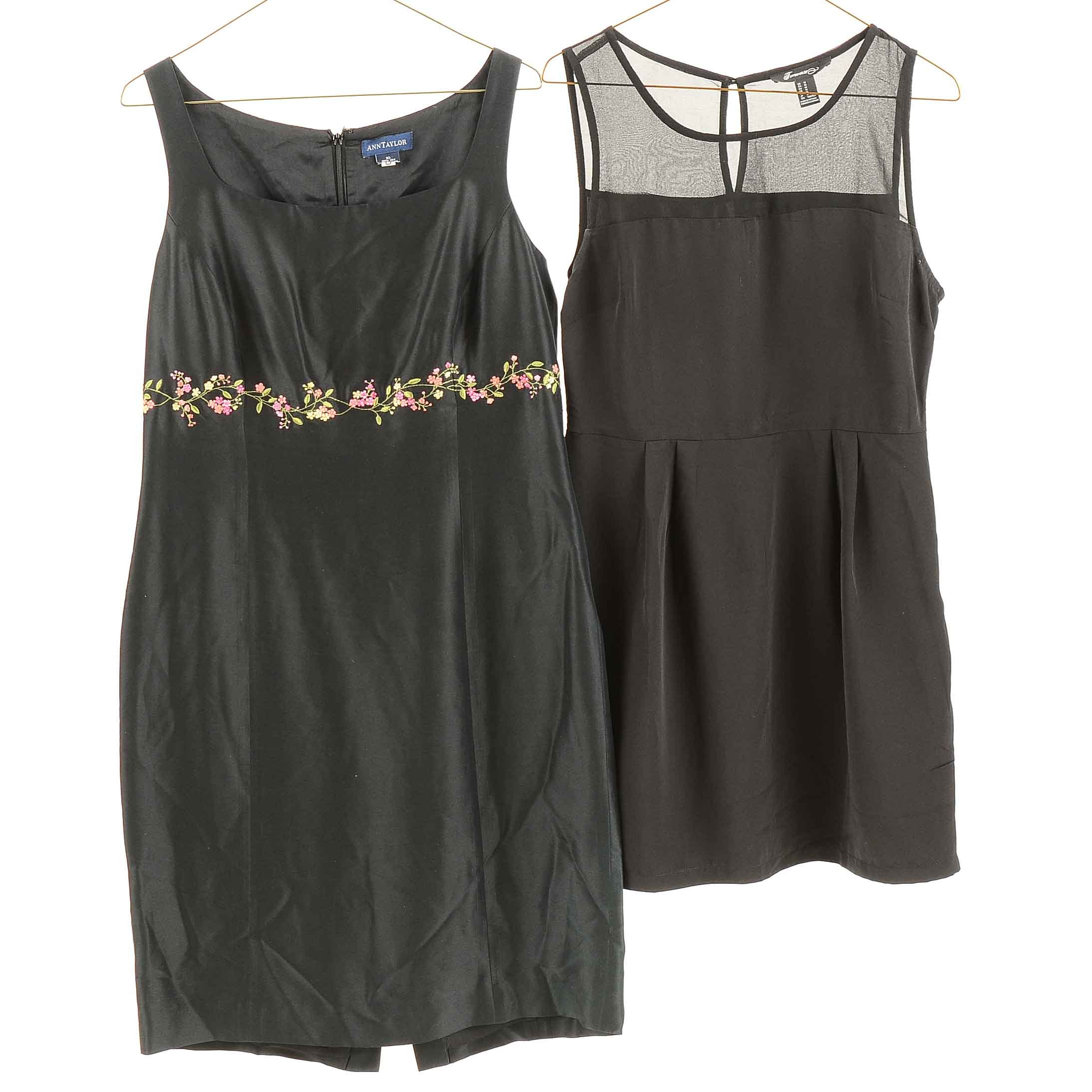 Sleeveless Ann Taylor and Forever 21 Black Dresses