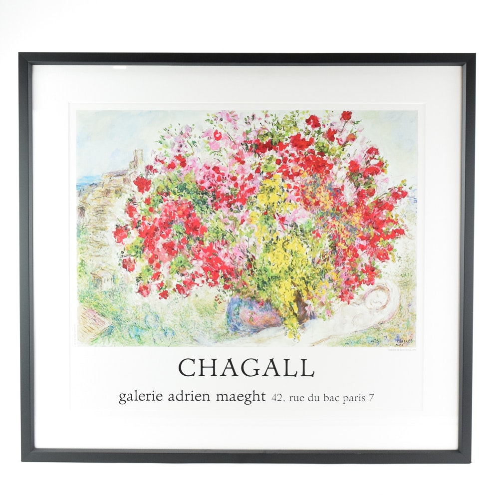 Marc Chagall Exhibition Poster for Galerie Adrien Maeght