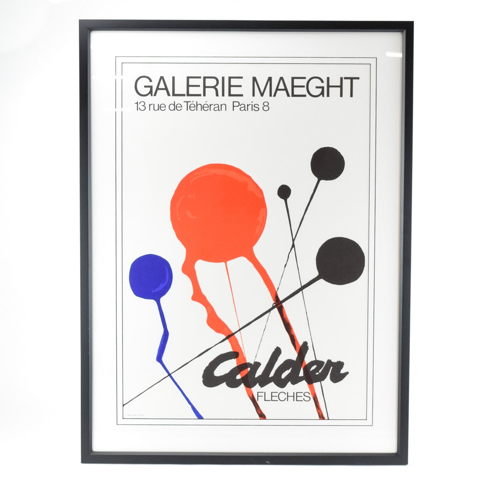 Galerie Maeght Offset Lithograph Exhibition Poster for Alexander Calder