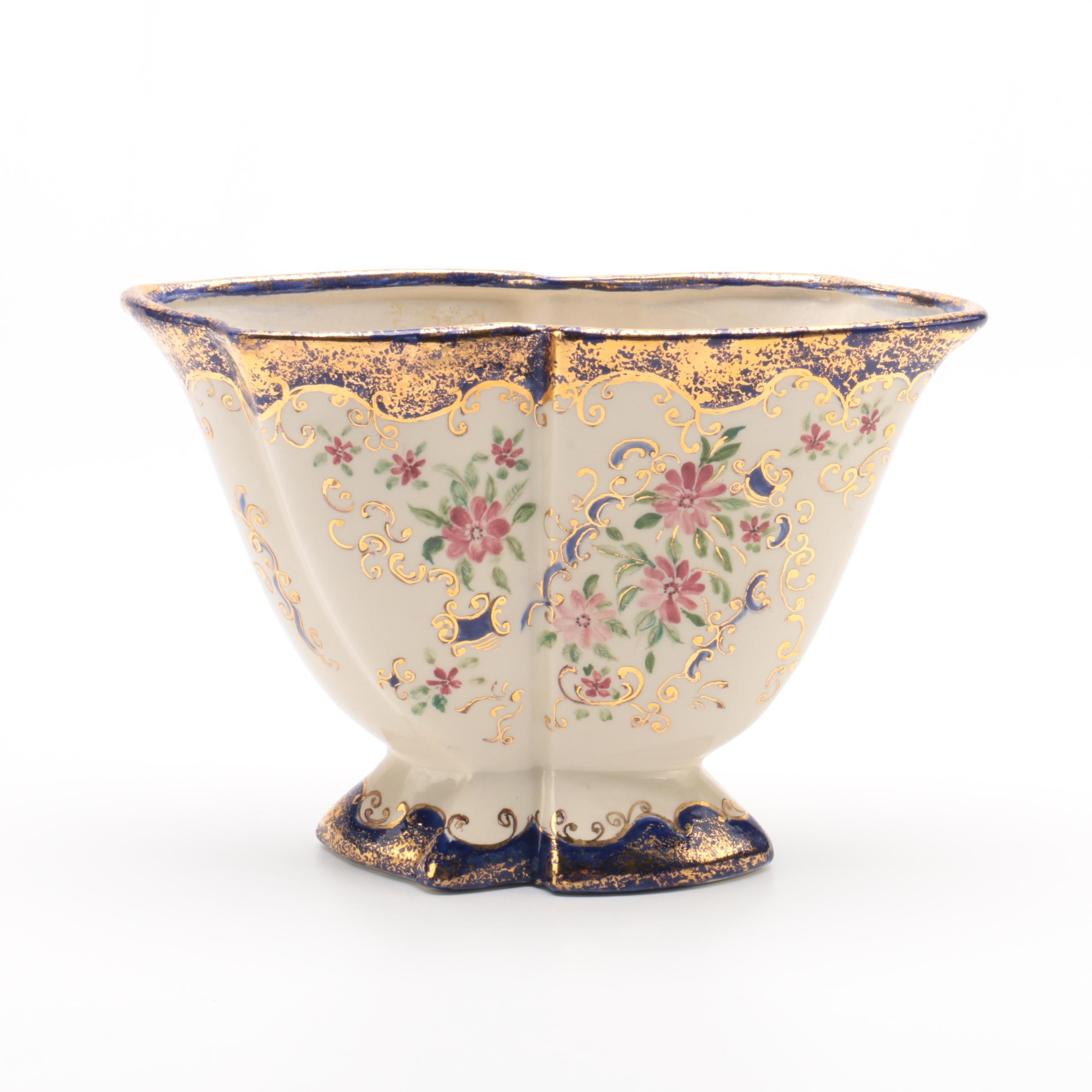 Hand-Painted Porcelain Vase Signed K. Townley