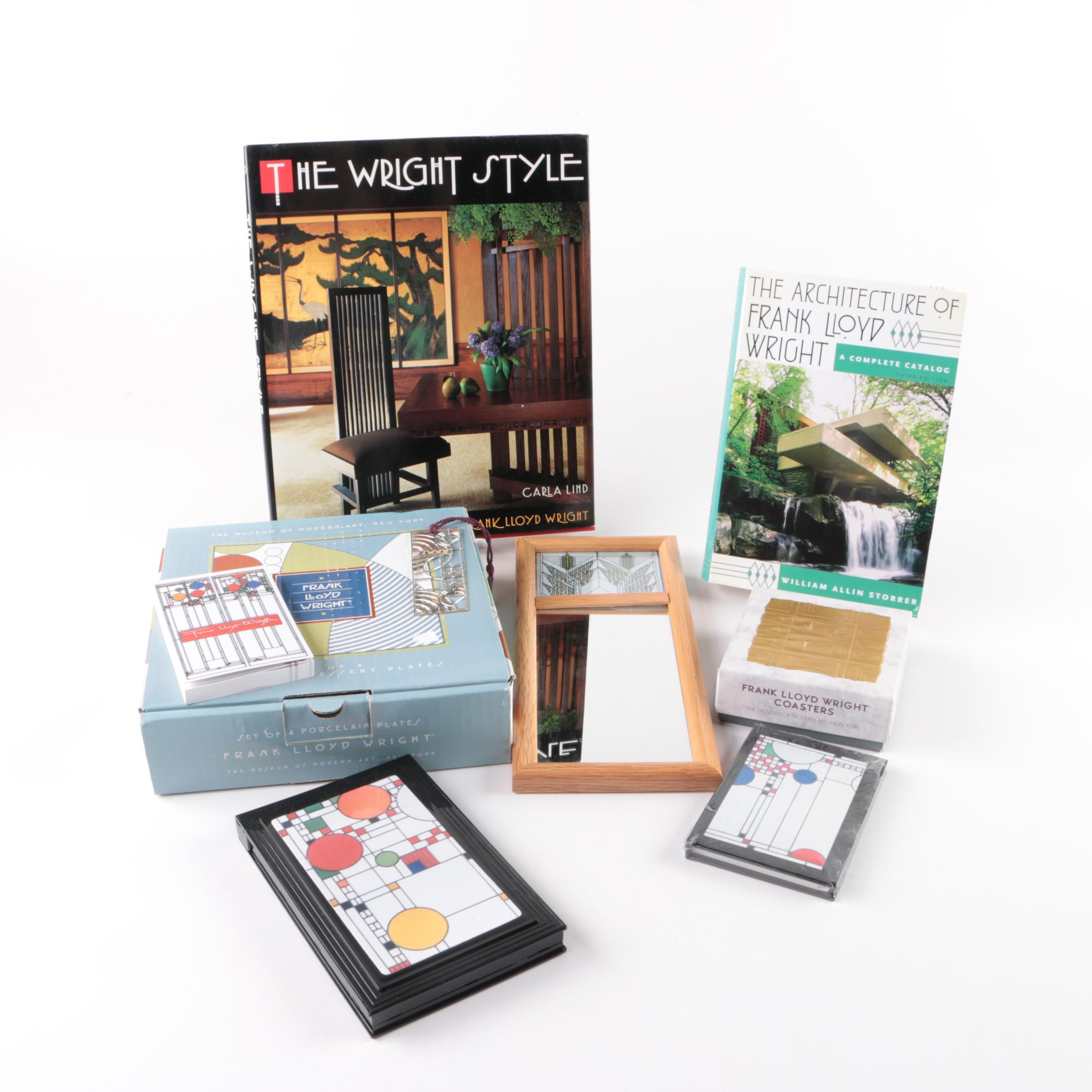 Frank Lloyd Wright Themed Books, Note Book and Home Décor
