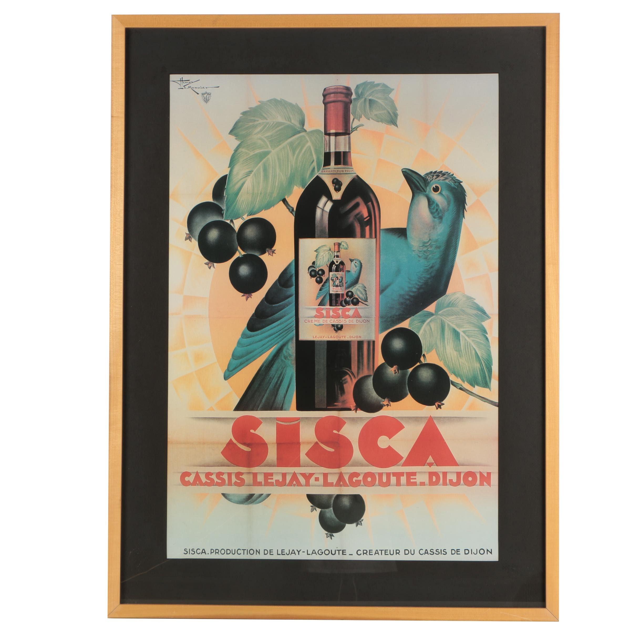 "Offset Lithograph Poster After Henri Le Monnier ""Sisca"""