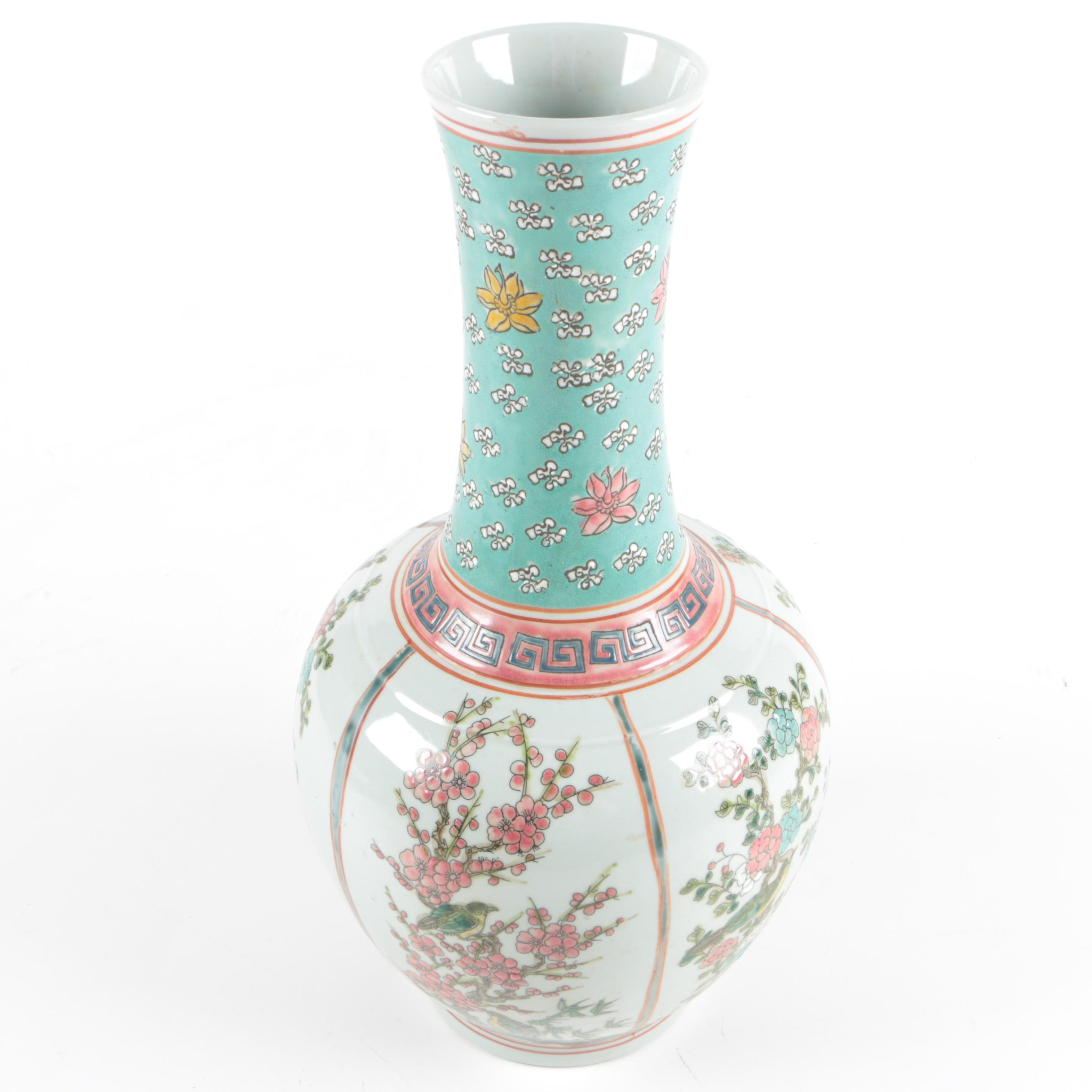 Chinese Painted Stoneware Vase