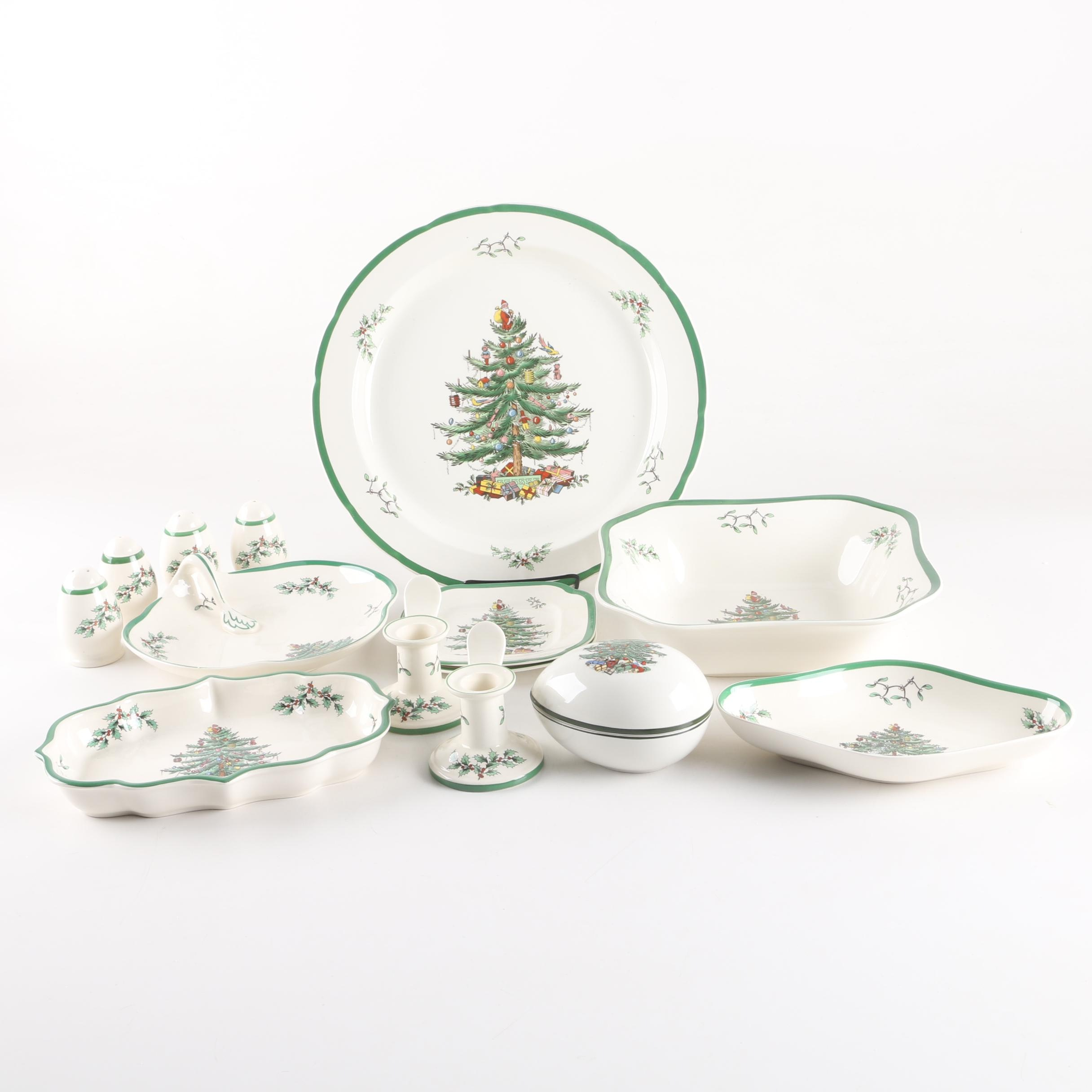 Spode 'Christmas Tree' Serveware