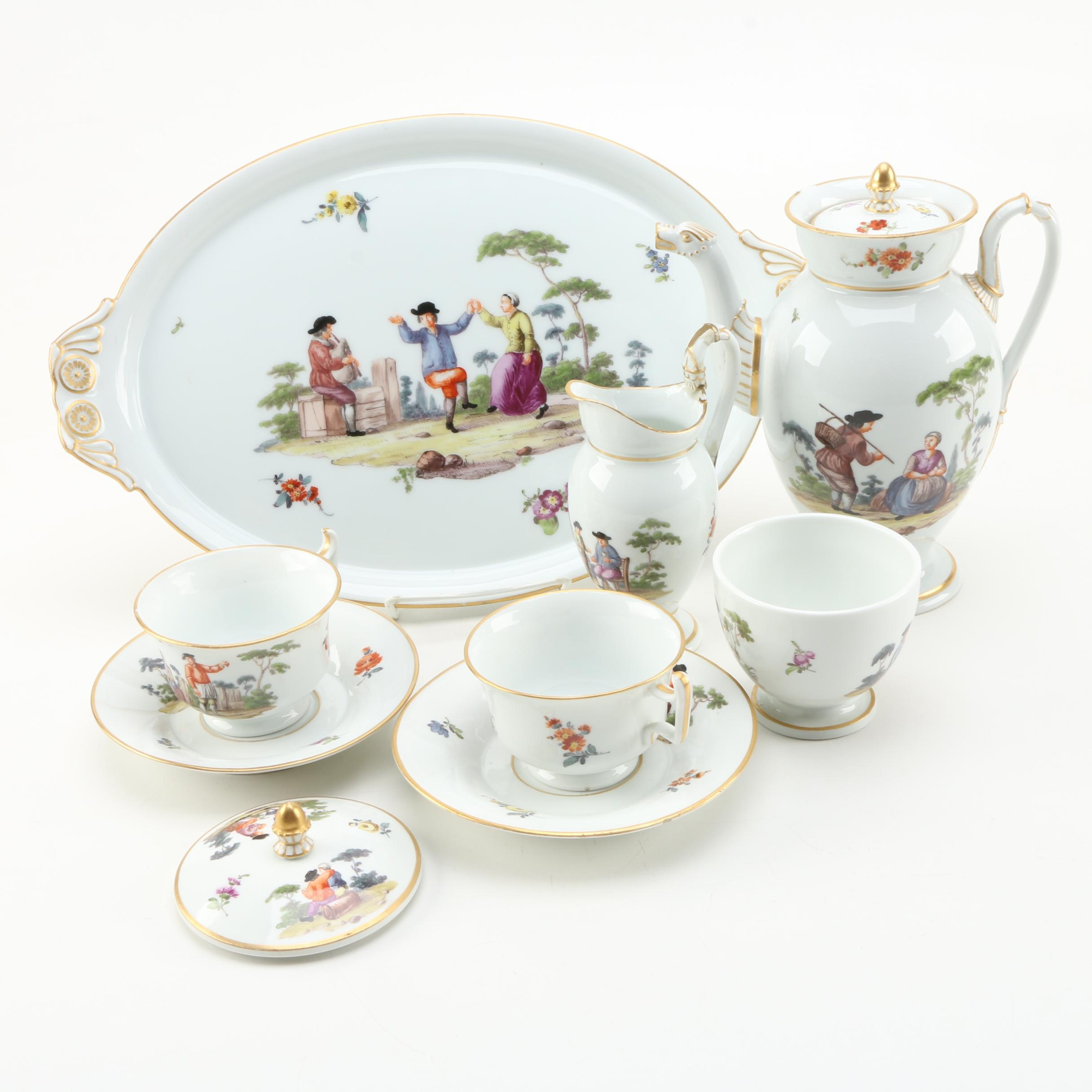 19th Century Meissen Porcelain Tableware