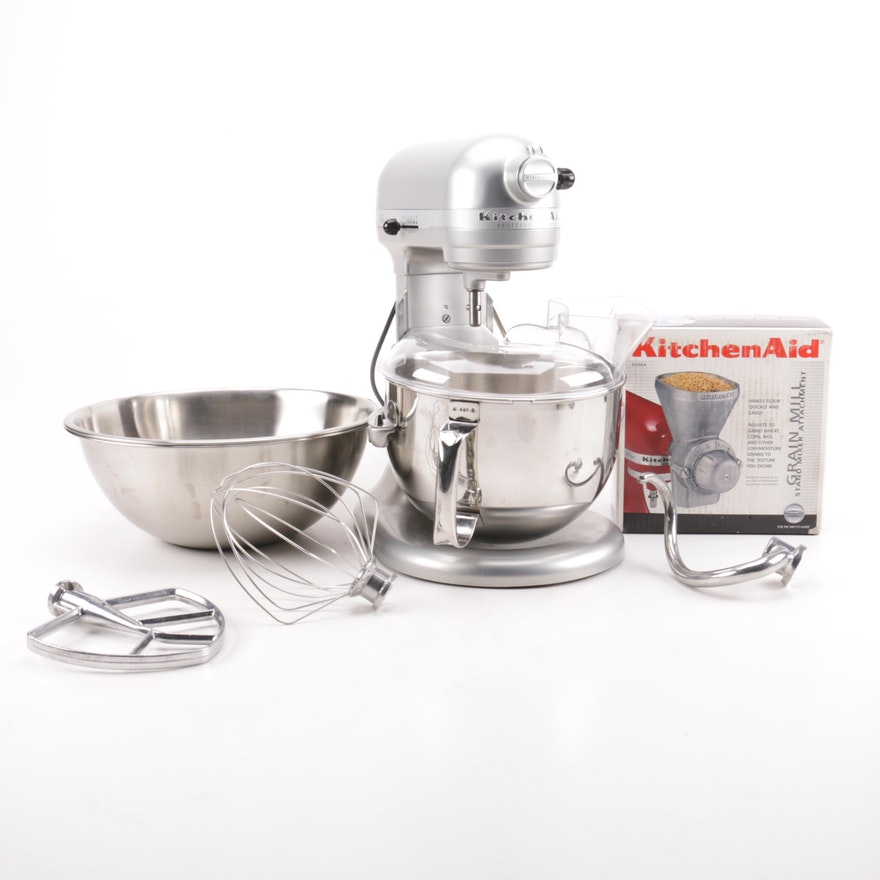 Kitchenaid Professional 600 Series Lift Stand Mixer With Accessories