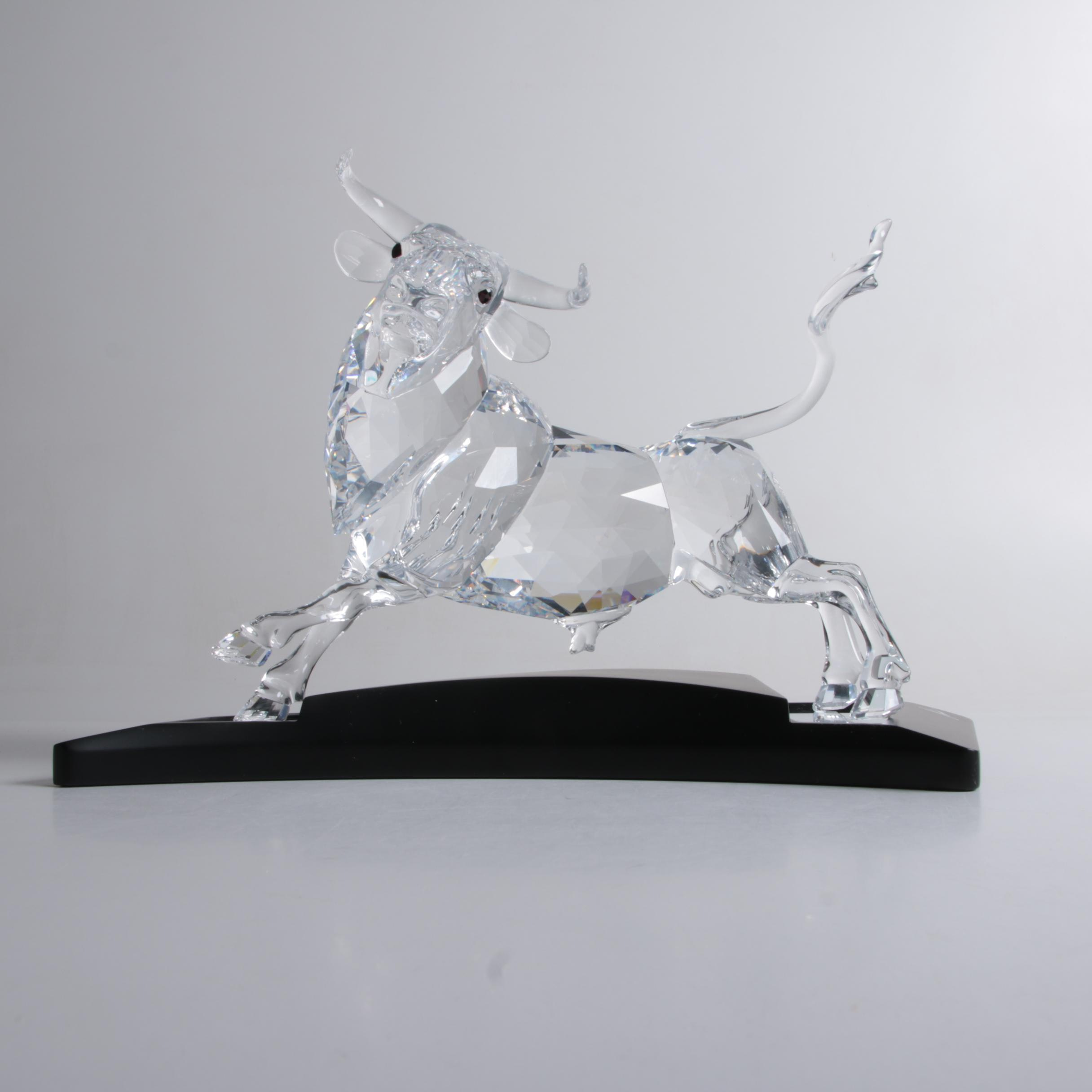 "Swarovski 2004 Limited Edition ""Bull"" With Certificate of Authenticity"