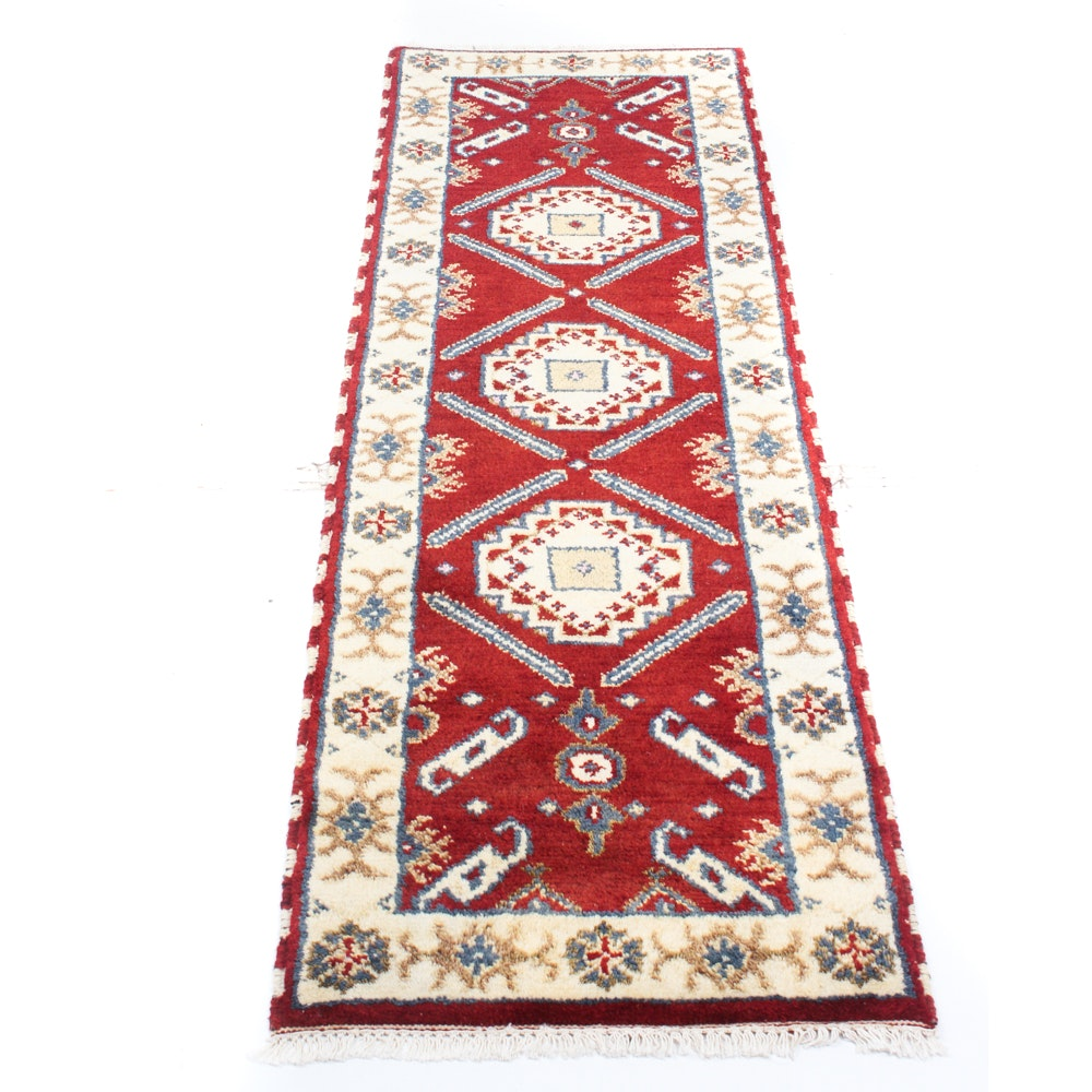 2' x 7' Hand-Knotted Indo-Caucasian Runner