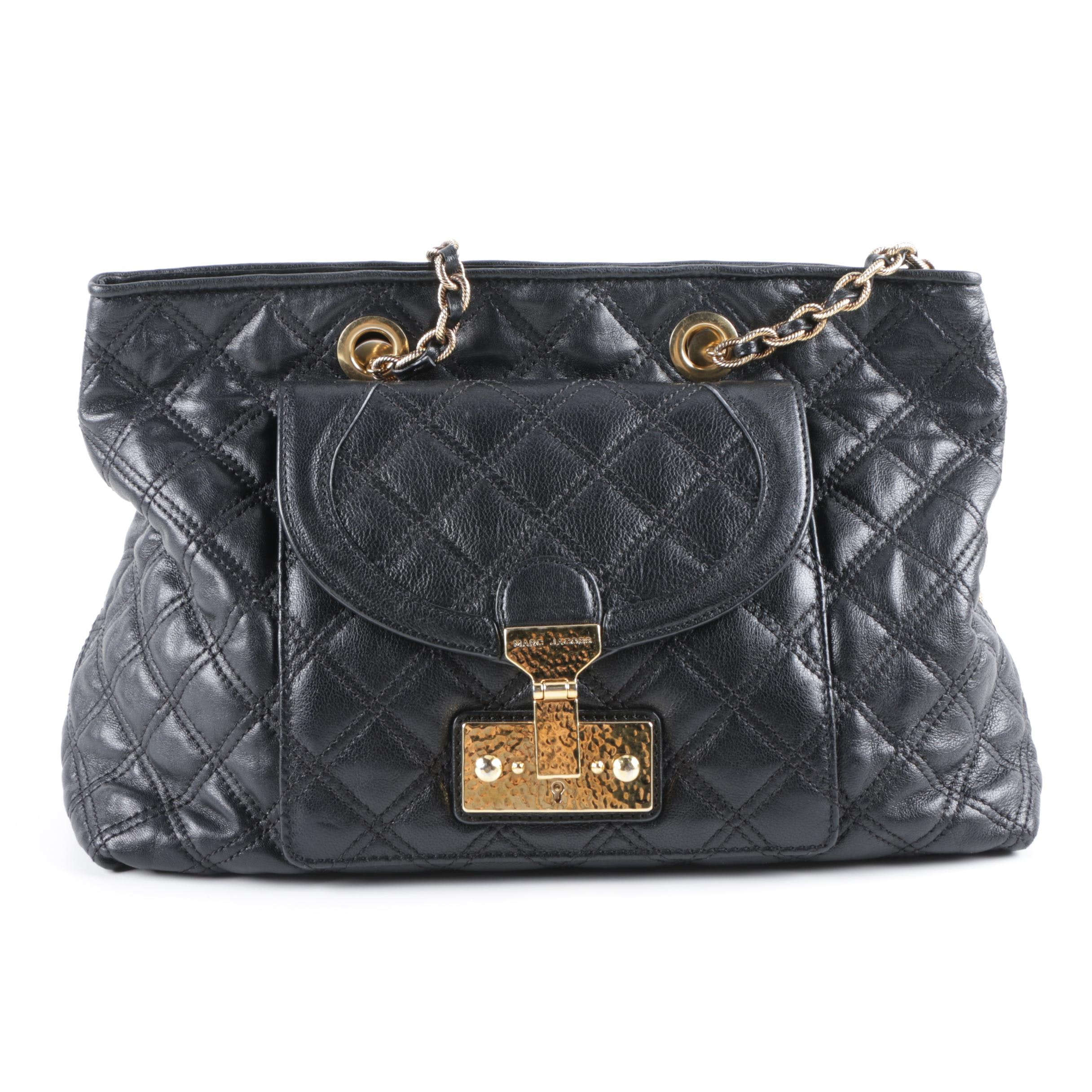 Marc Jacobs Quilted Black Leather Handbag