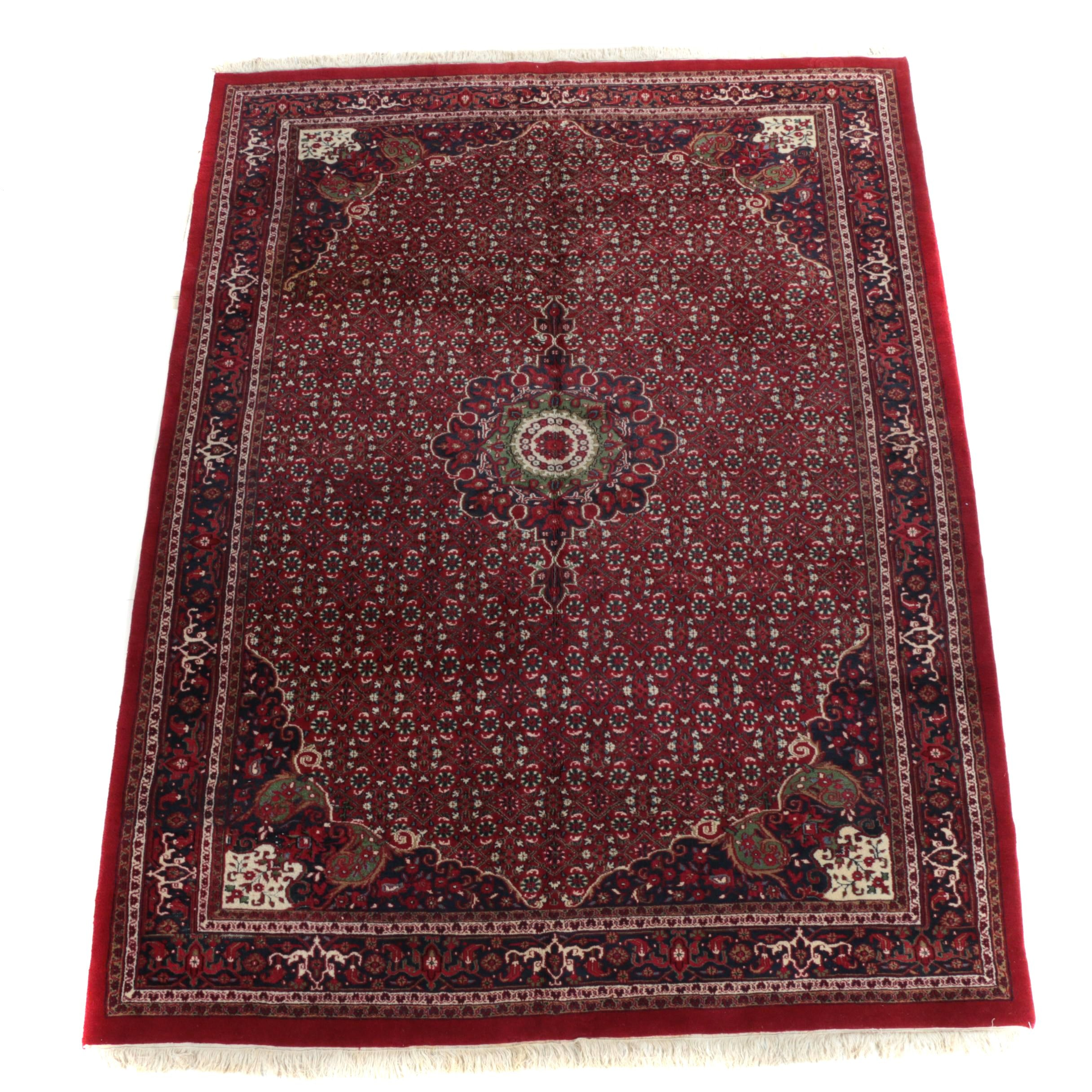 "Hand-Knotted Indian ""Bijar"" Wool Area Rug"