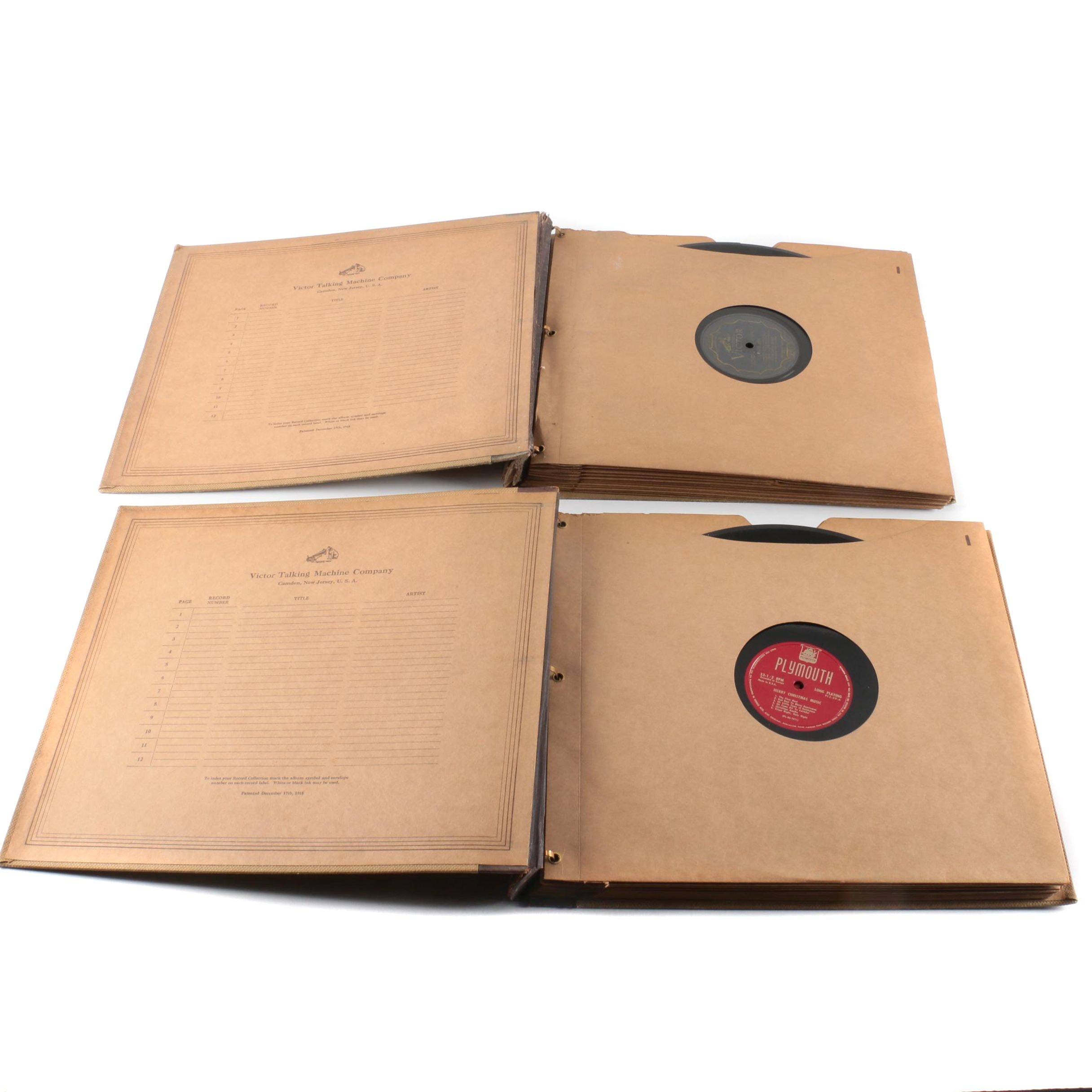 Vintage Record Books Featuring Sarah Vaughan and Dizzy Gillespie