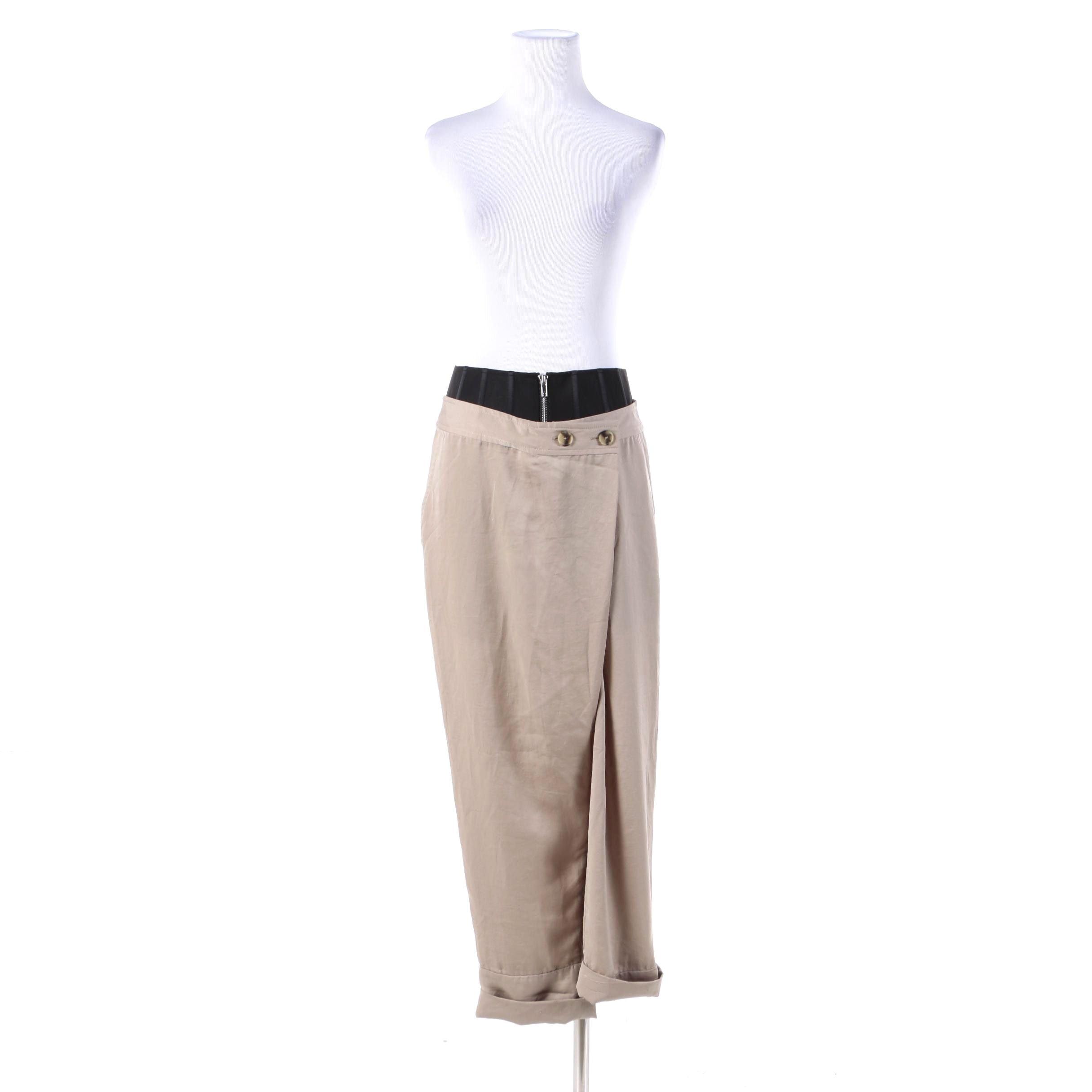Women's Alexander Wang Beige Polyester Trousers