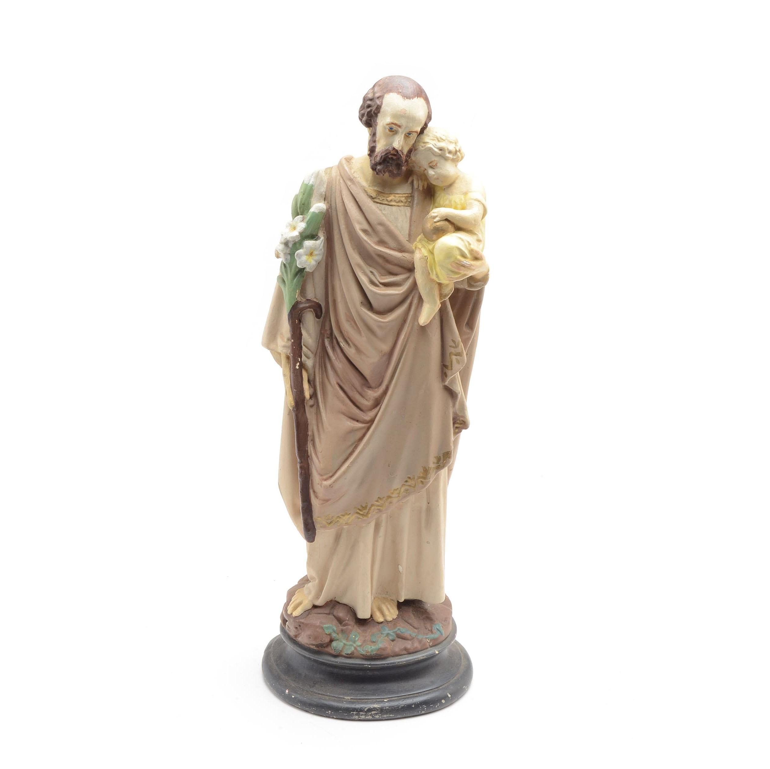 Vintage Figural Statue of Joseph
