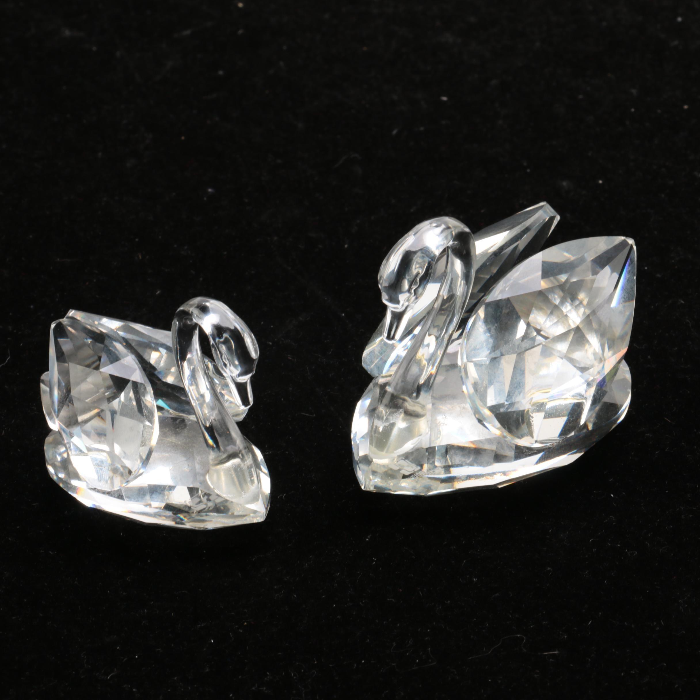 Swarovski Crystal Swans