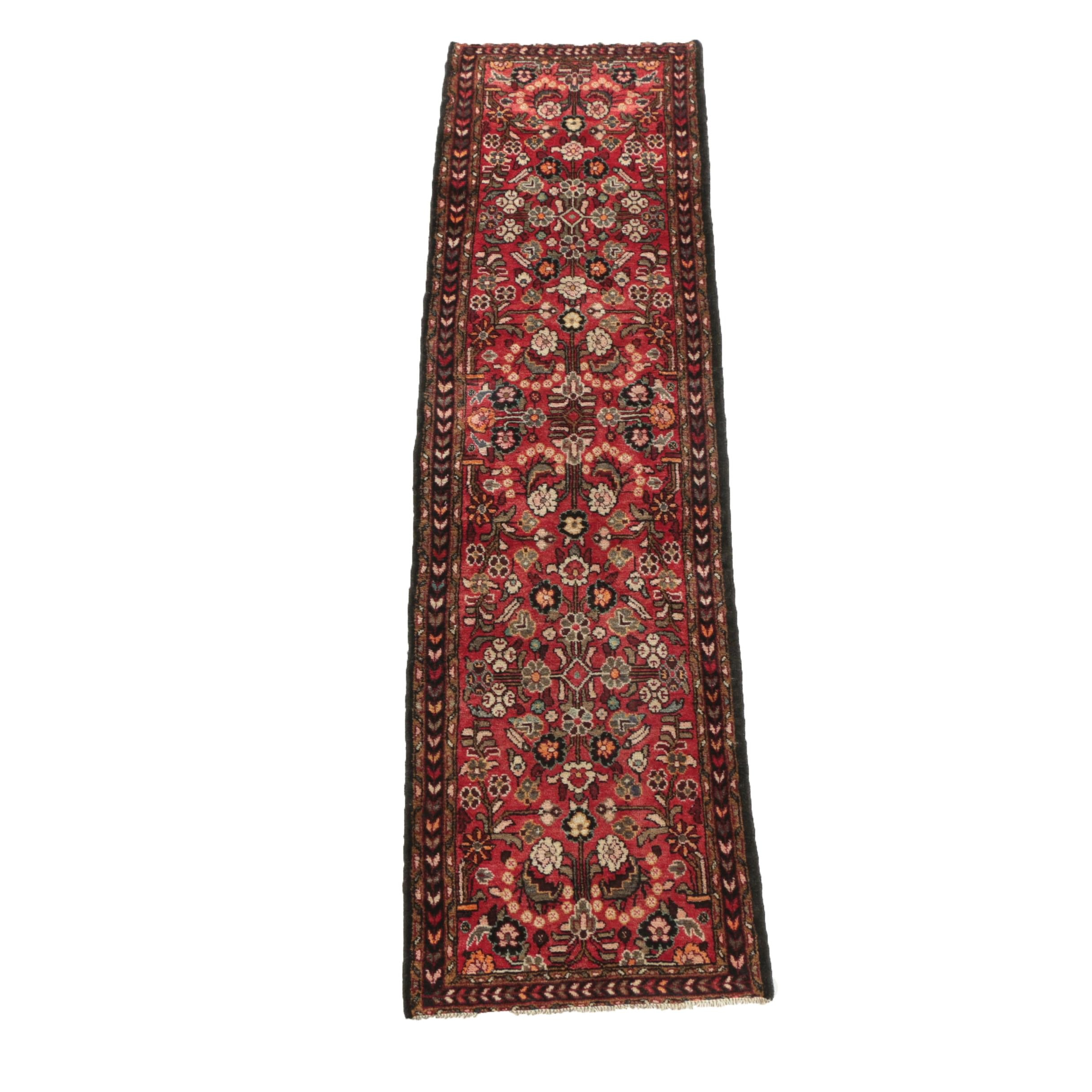 Hand-Knotted Persian Hamadan Carpet Runner