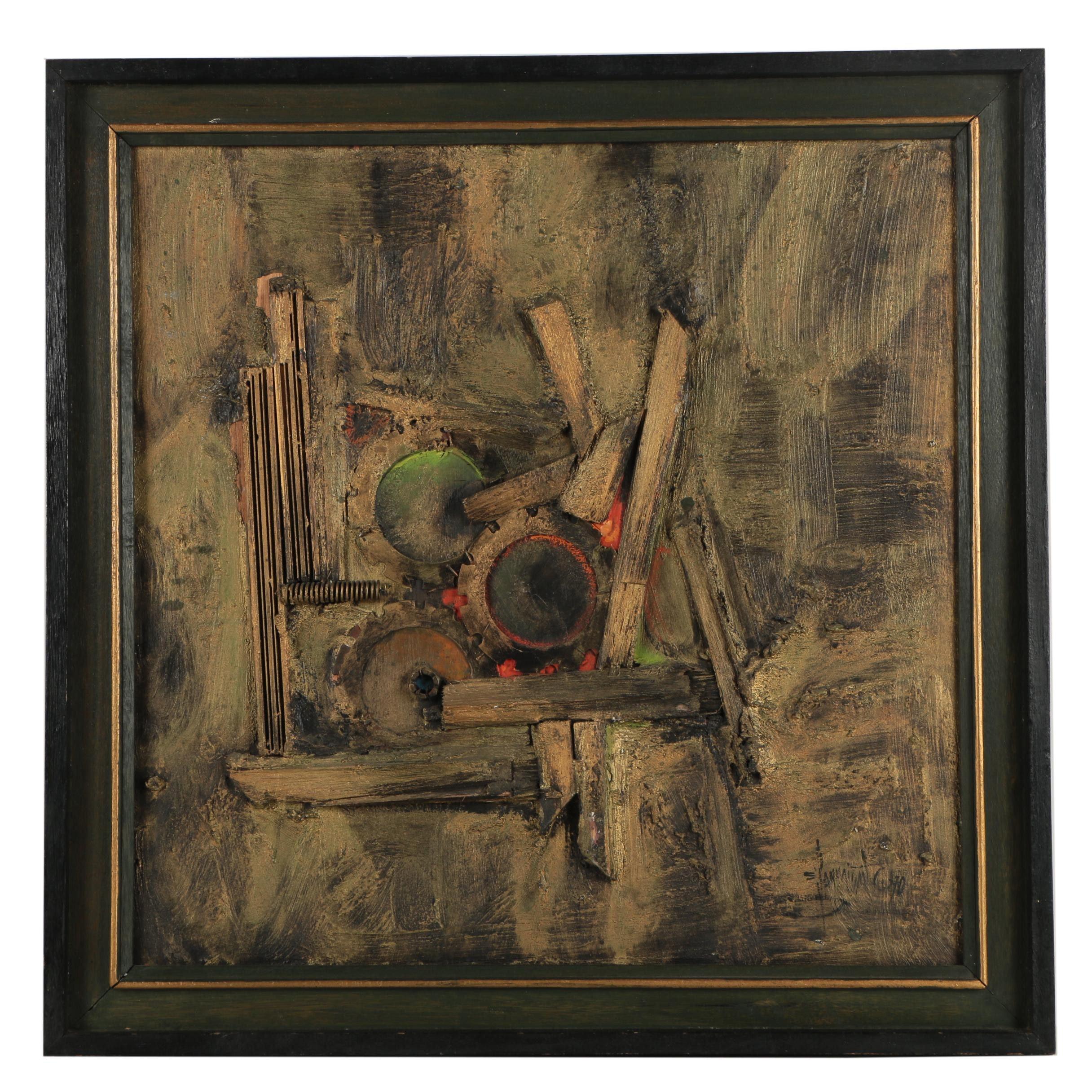 Eddie Sarmiento Abstract Mixed Media Painting