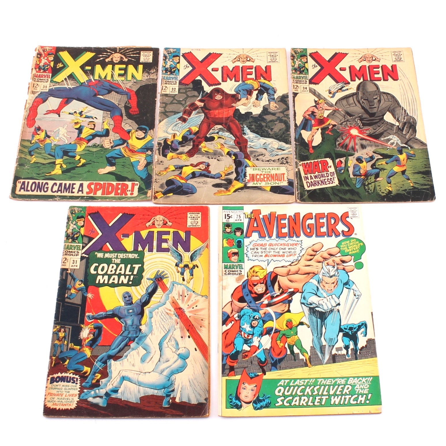 """Silver Age """"X-Men"""" and """"Avengers"""" Comics"""