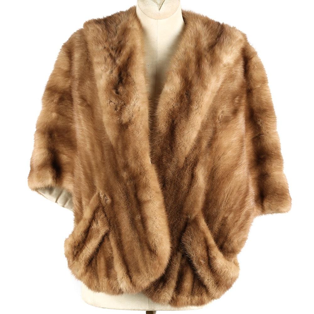 Vintage Dark Blonde Mink Fur Stole