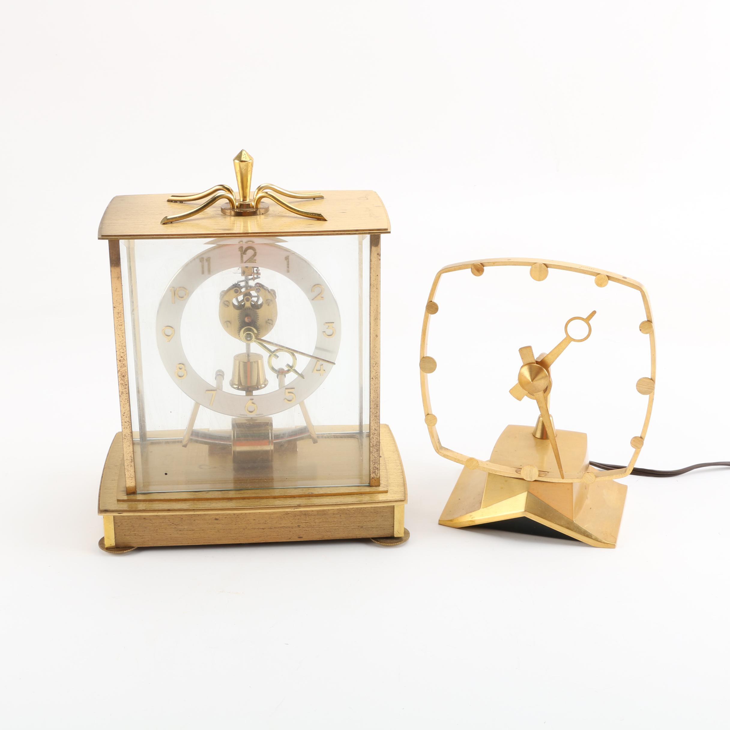 Contemporary Style Kundo and Jefferson Mantel Clocks
