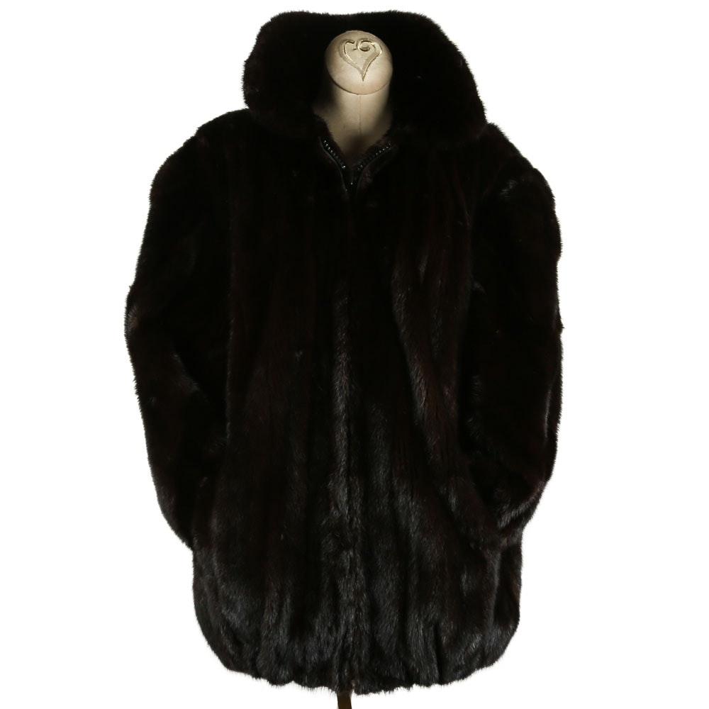 Harry Kirshner & Son of New York Black Diamond Mink Fur Jacket