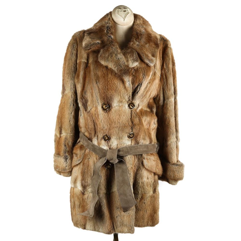 Women's Vintage Evan's Muskrat Fur Coat
