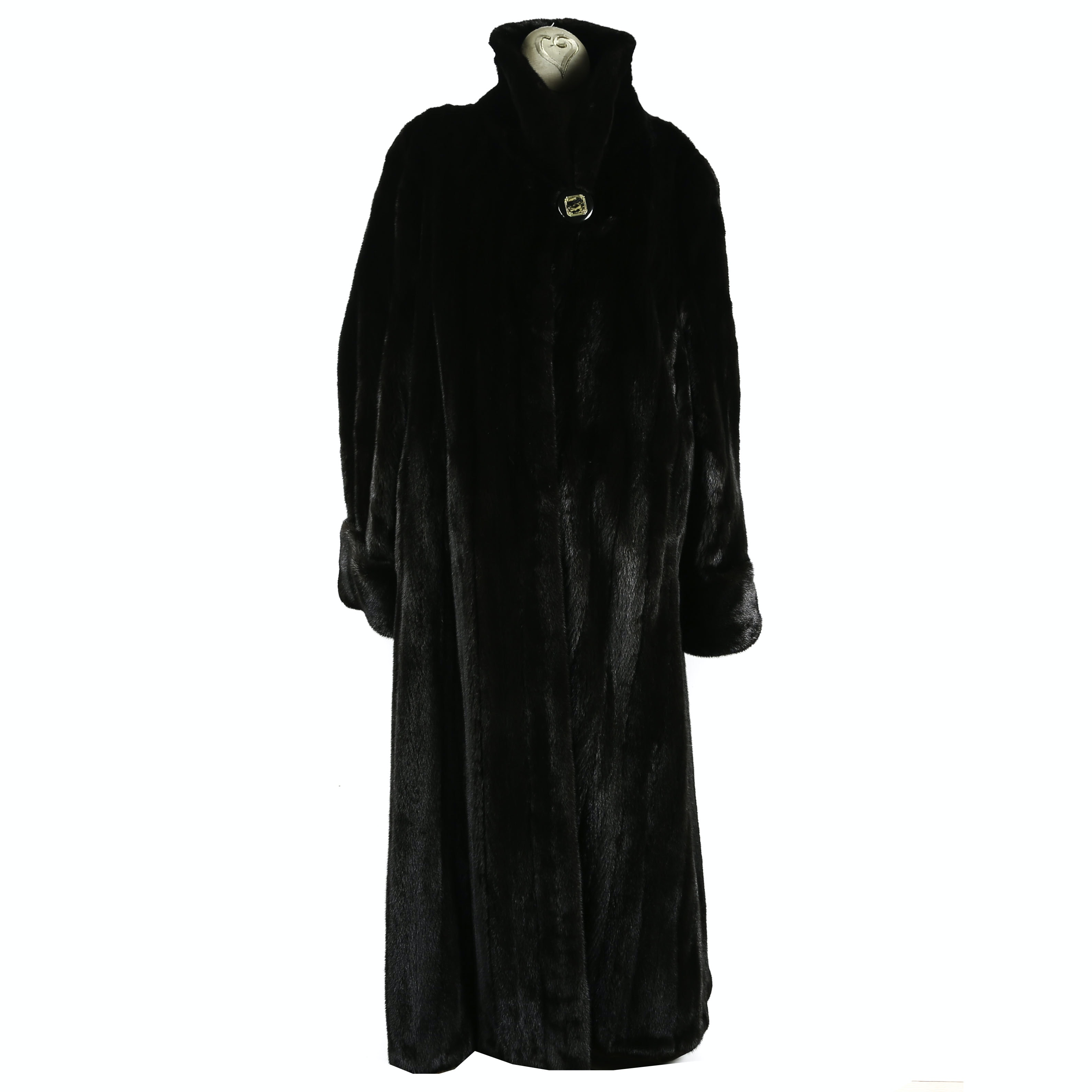 Vintage Harry Kushner & Son of New York Full-Length Ranch Mink Fur Coat