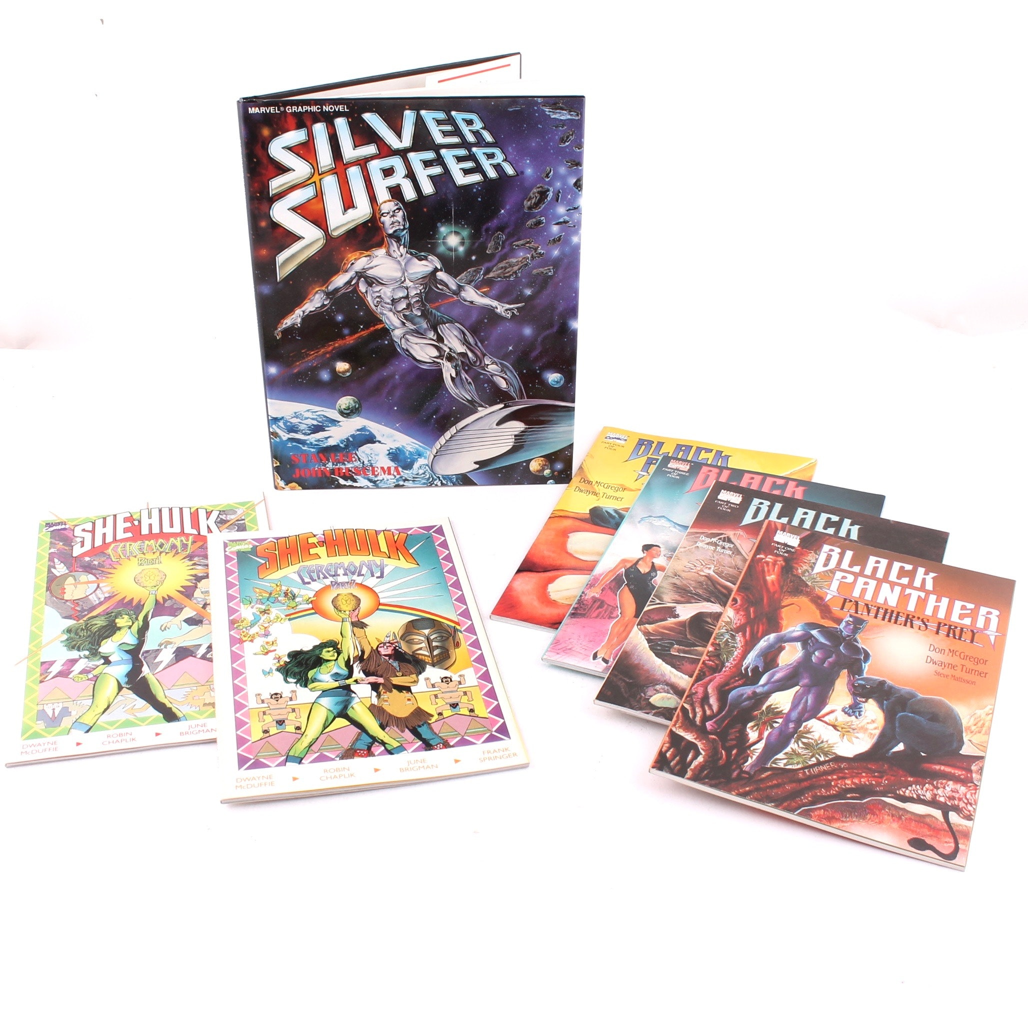 Marvel Graphic Novel Assortment Featuring Black Panther