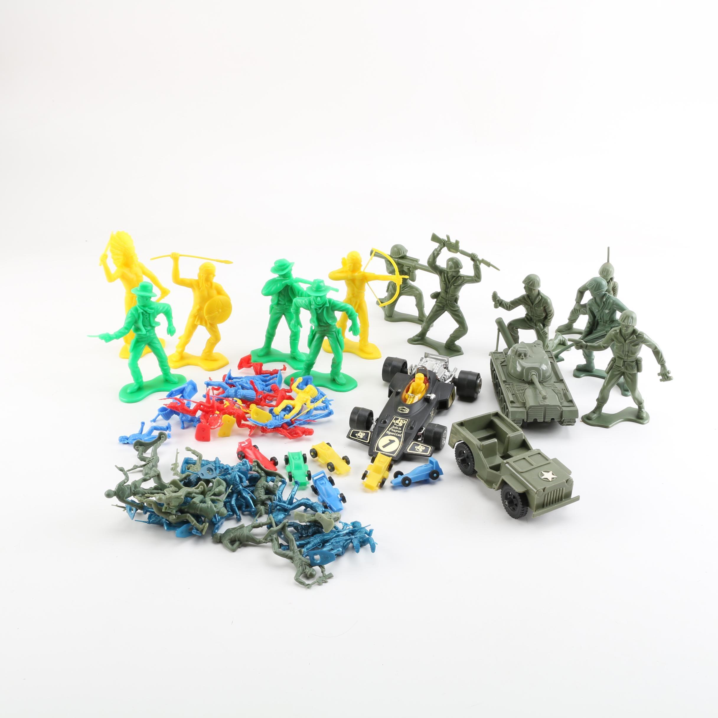 Plastic Pretend Toys, Including Lotus JP8 F1 Vehicle