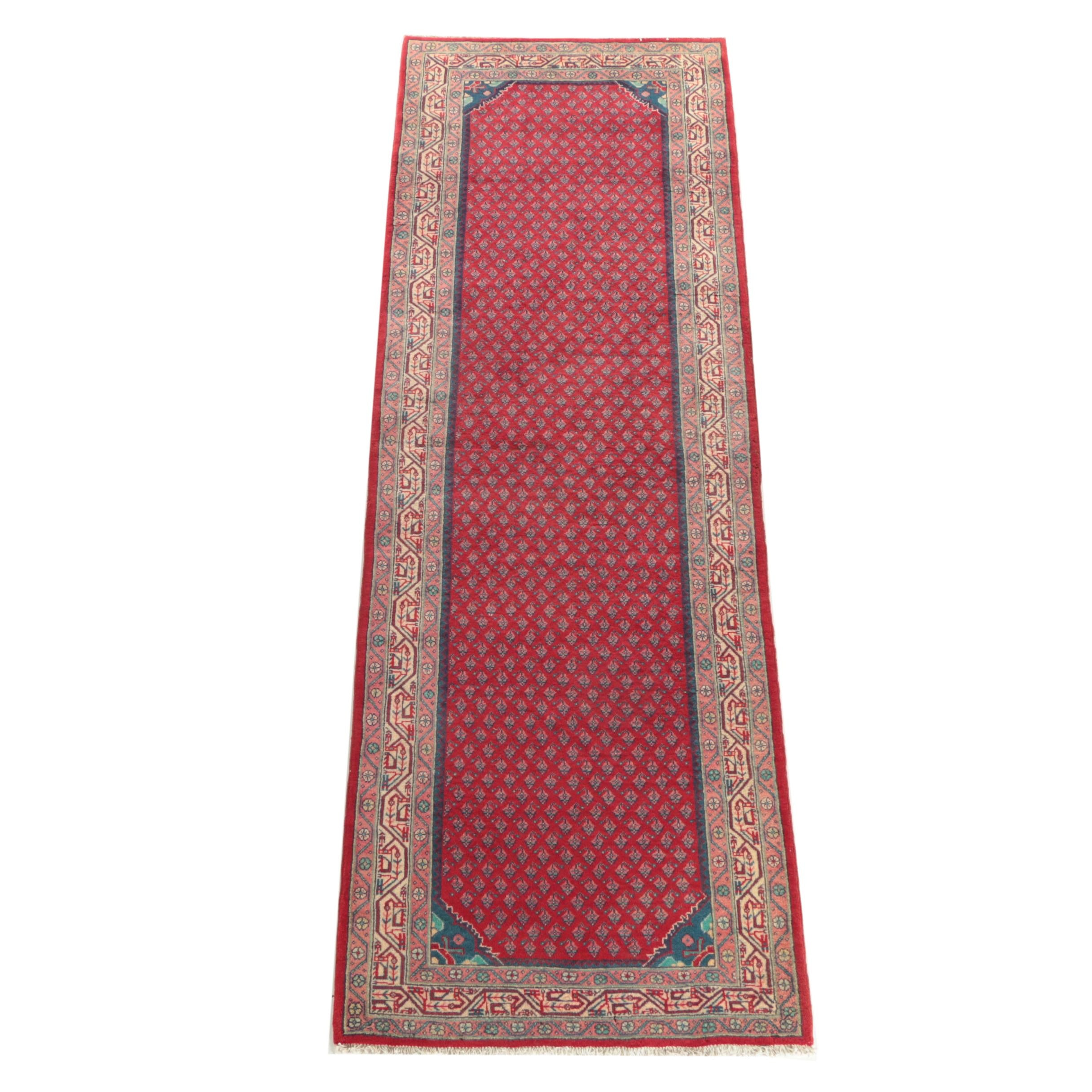 Hand-Knotted Persian Serabend Carpet Runner