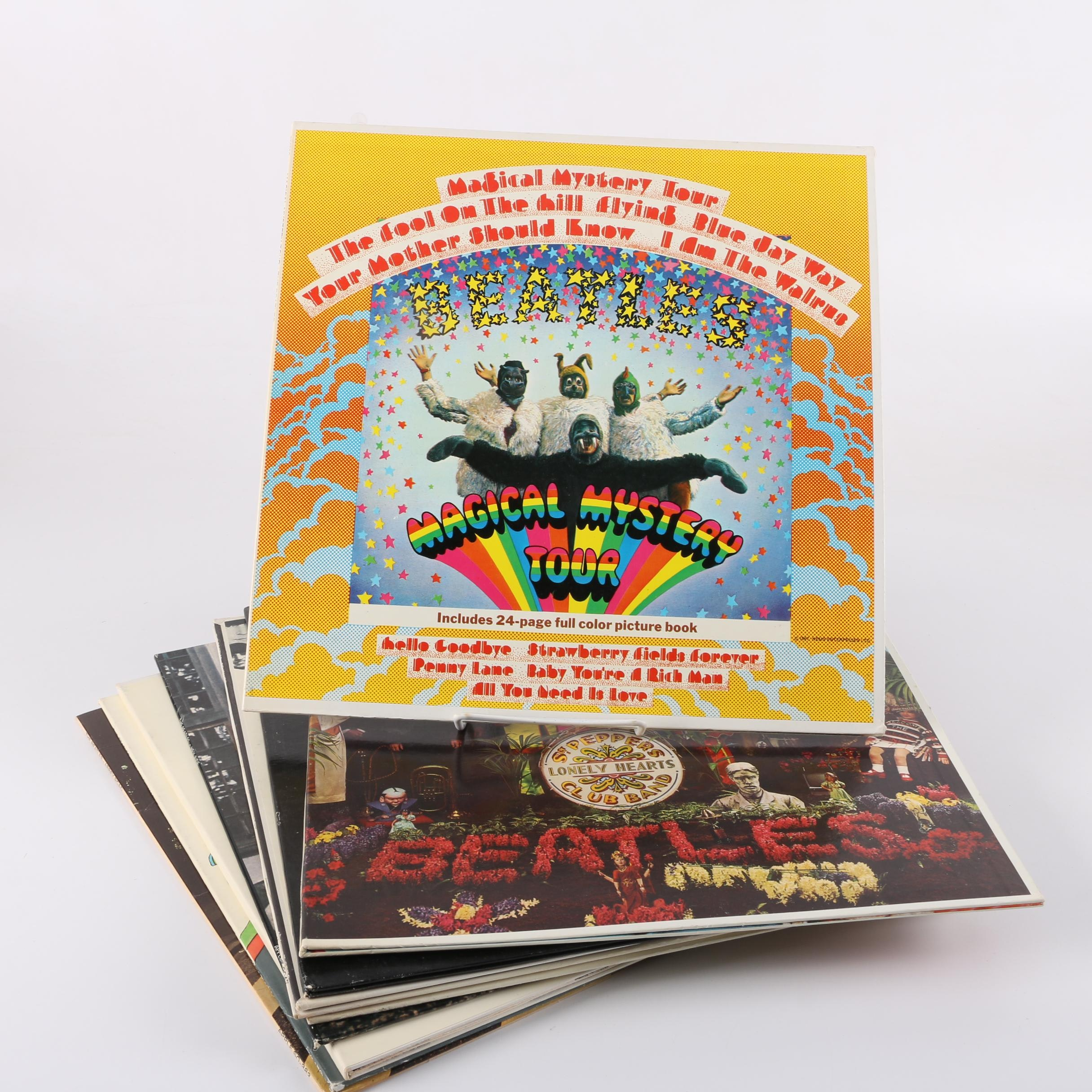 "Beatles Records Including ""Sgt. Pepper,"" ""Let it Be,"" ""Revolver,"" ""Abbey Road"""