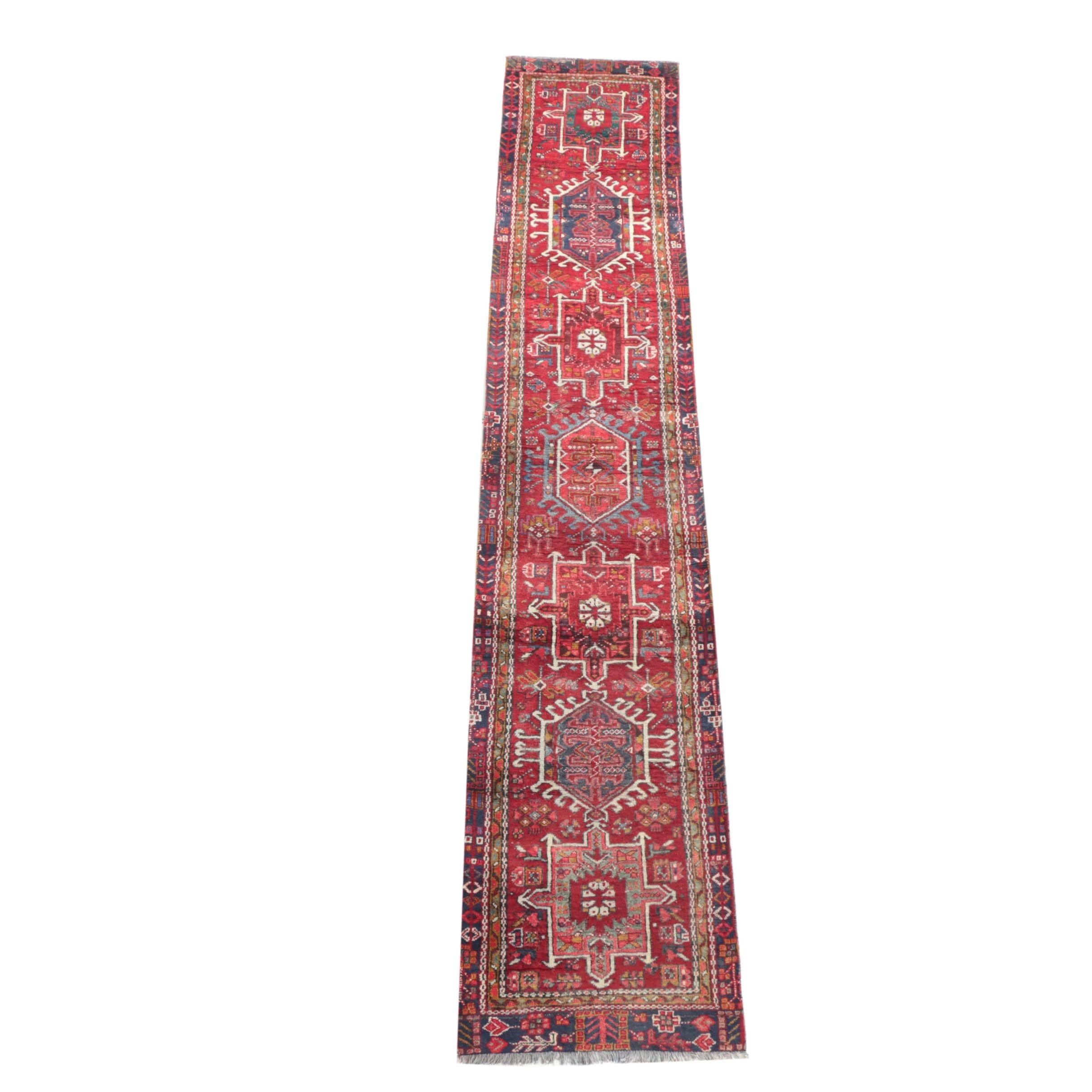Hand-Knotted Persian Karaja Carpet Runner