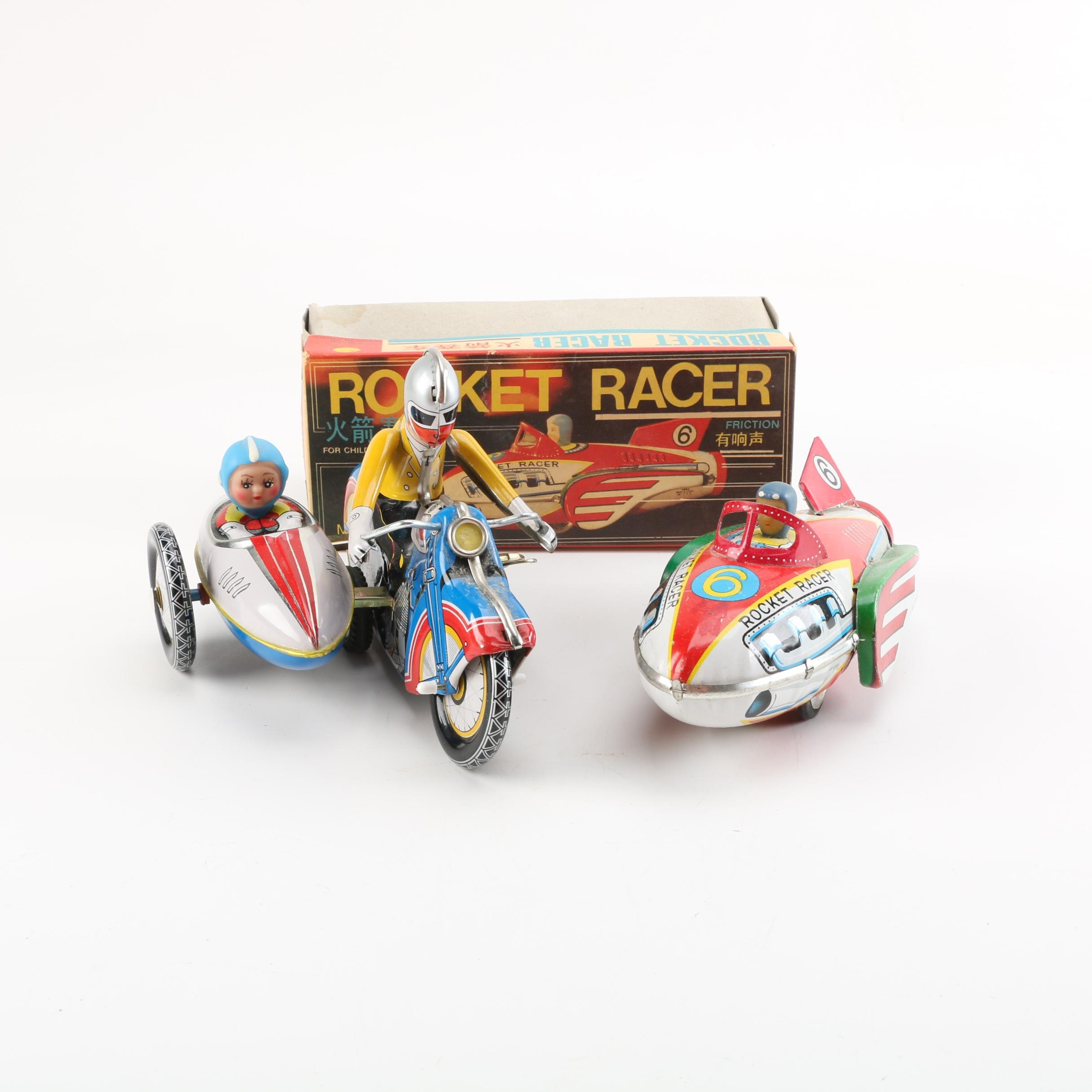 Chinese Tin Litho Friction and Wind-Up Toys