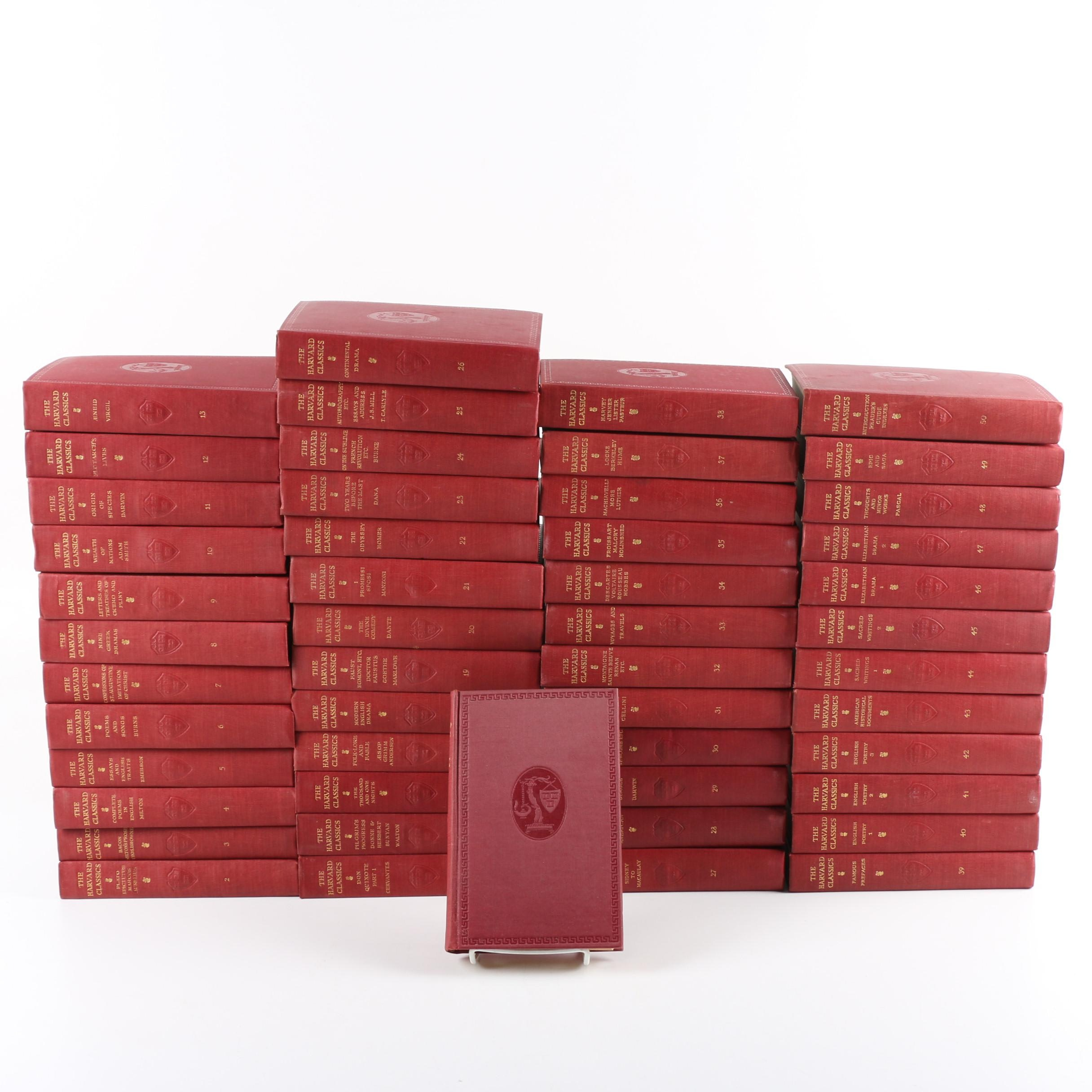 "Early 1900s ""The Harvard Classics"" in Fifty Volumes"