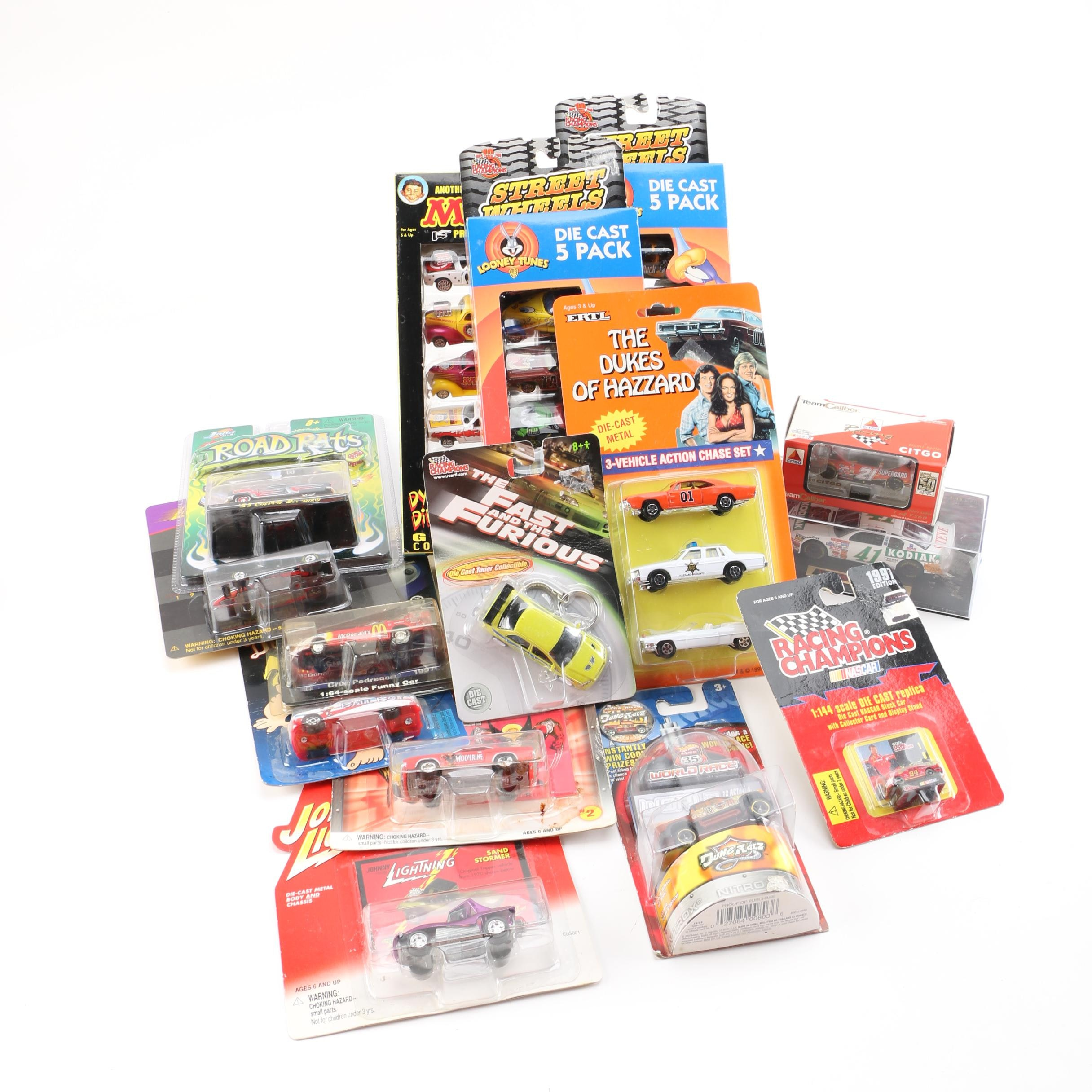 Miniature Scale Die-Cast Cars Including Johnny Lightning