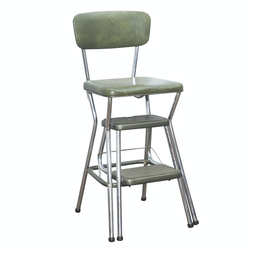 Magnificent Vintage Step Stool Chair By Cosco Machost Co Dining Chair Design Ideas Machostcouk