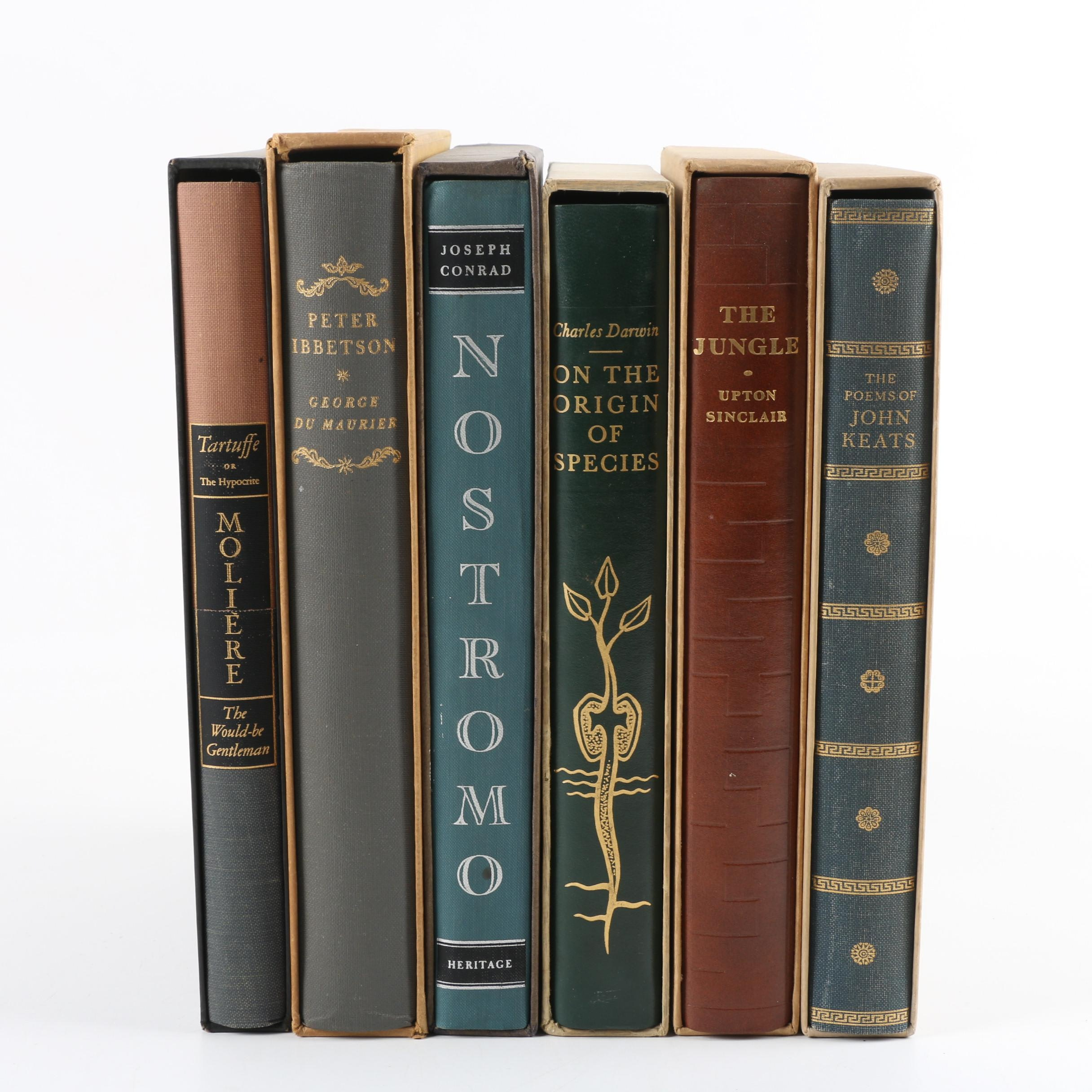 "1960s Heritage Press Edition Books including ""On the Origin of Species"""