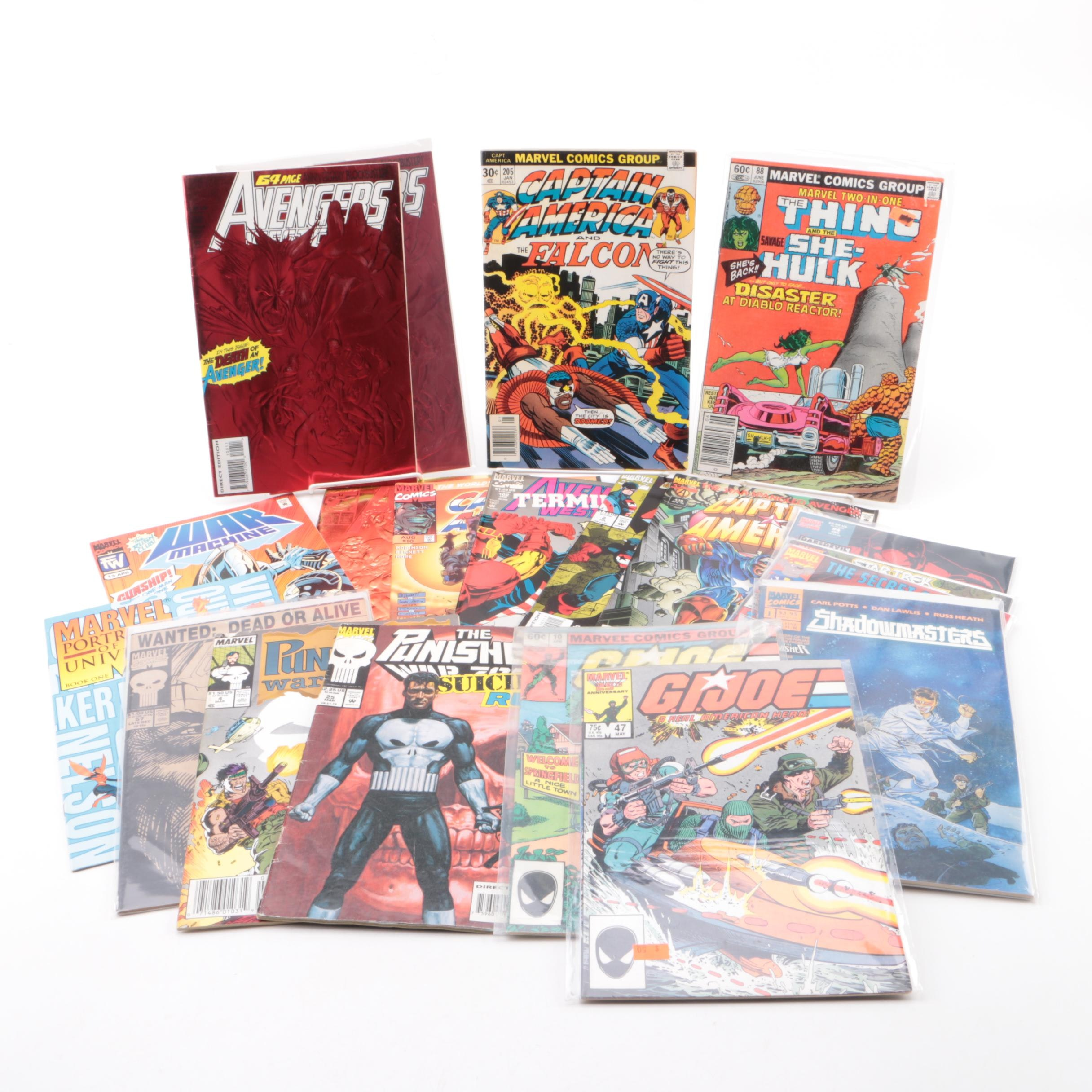 "Marvel Comic Books Including ""Captain America and the Falcon"" and ""War Machine"""