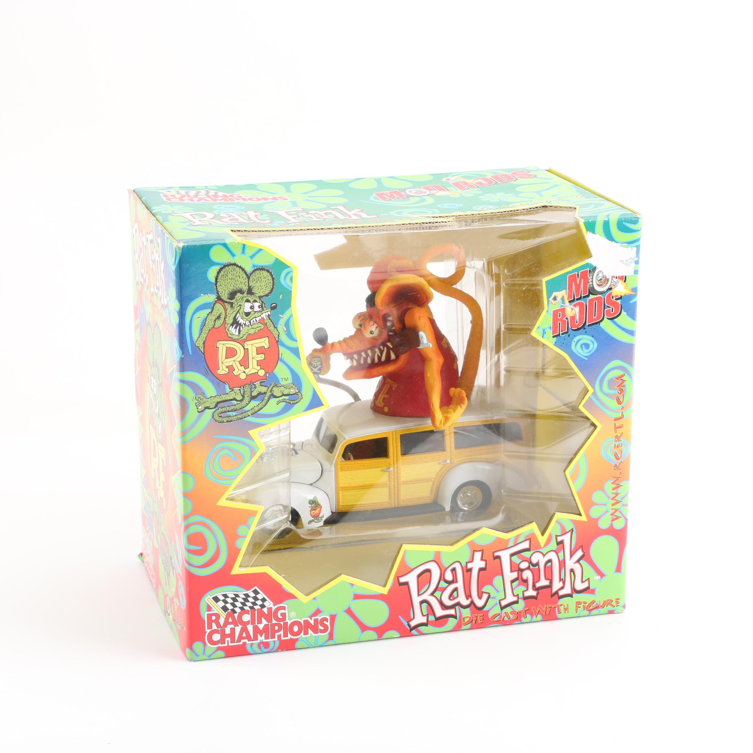 Big Daddy Ed Roth Racing Champions Die-Cast Rat Fink Mod Rod
