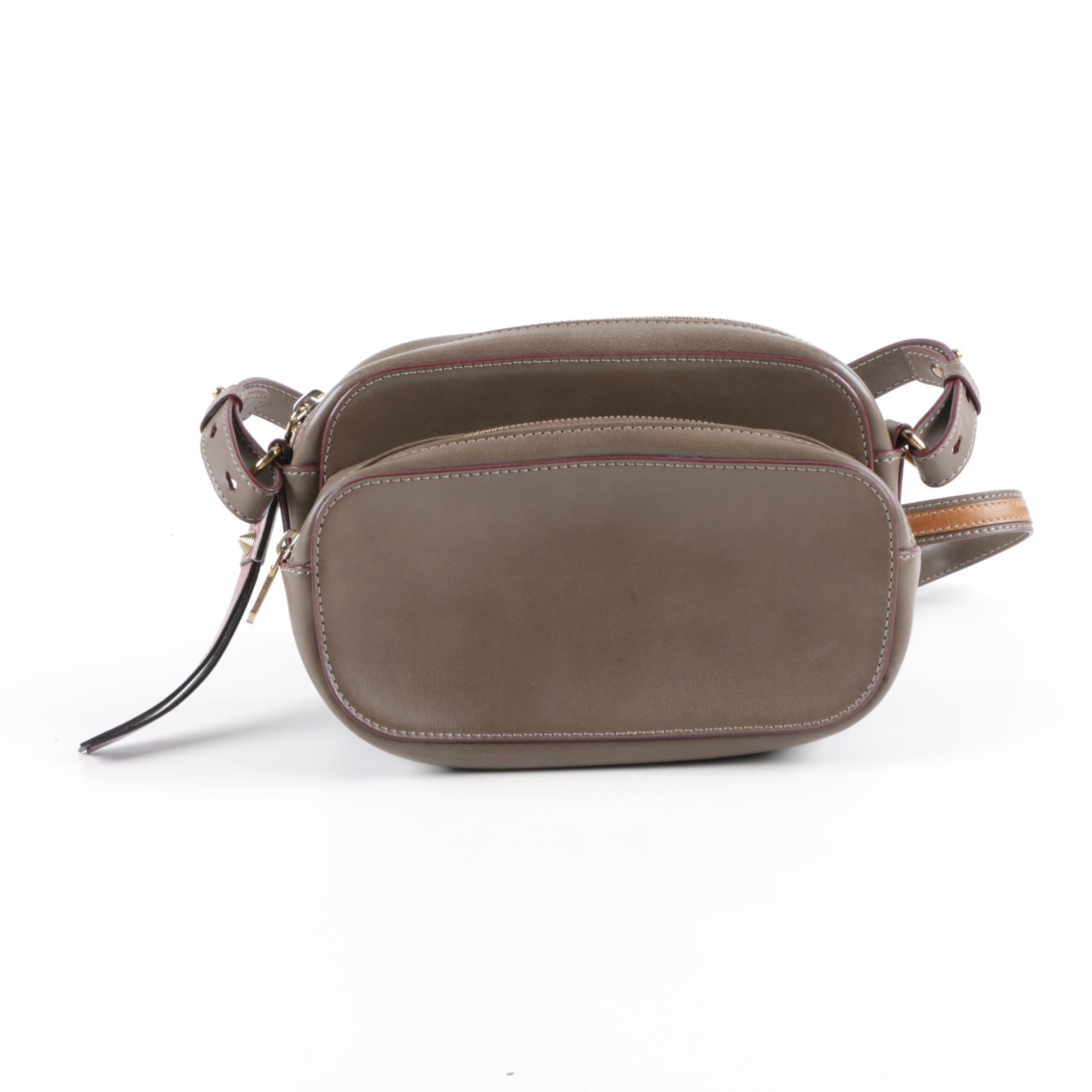 Chloé Taupe Leather Saddle Bag