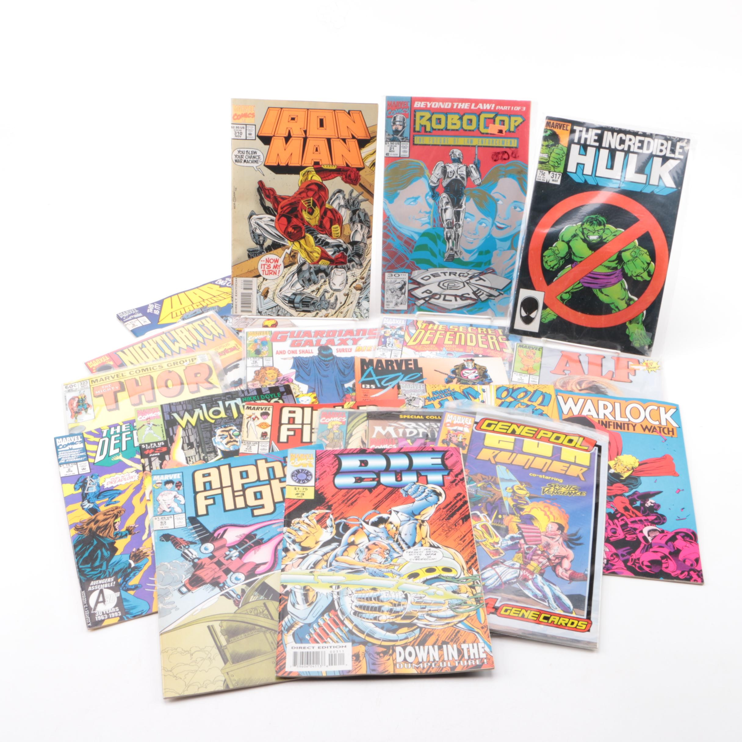 "Modern Age Marvel Comic Books Including ""The Mighty Thor"" and ""Iron Man"""