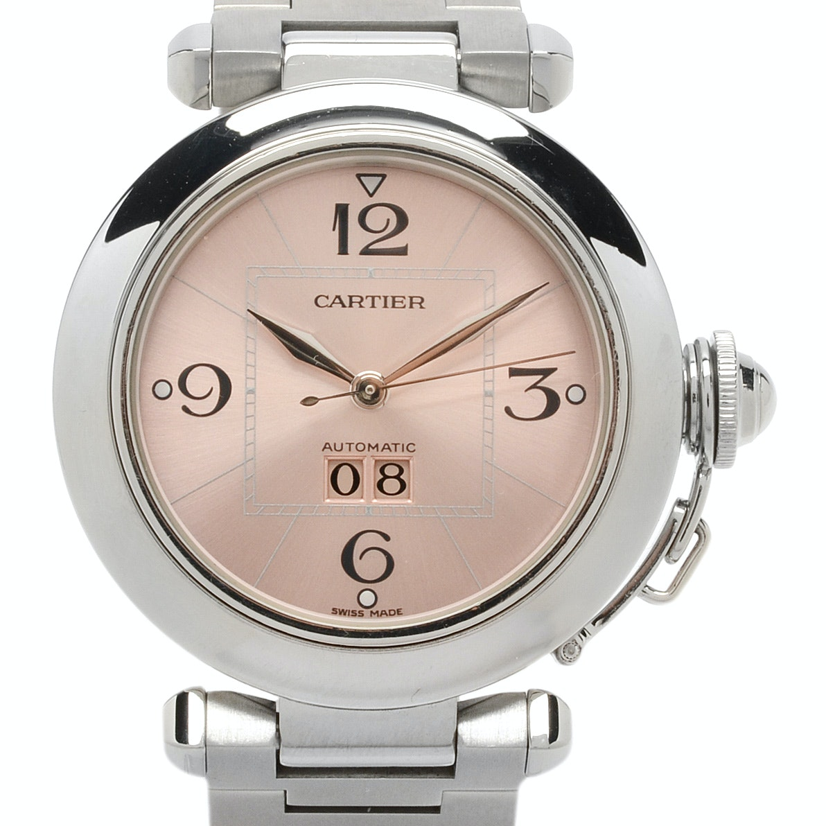 "Cartier ""Pasha C"" Big Date Stainless Steel Automatic Wristwatch"