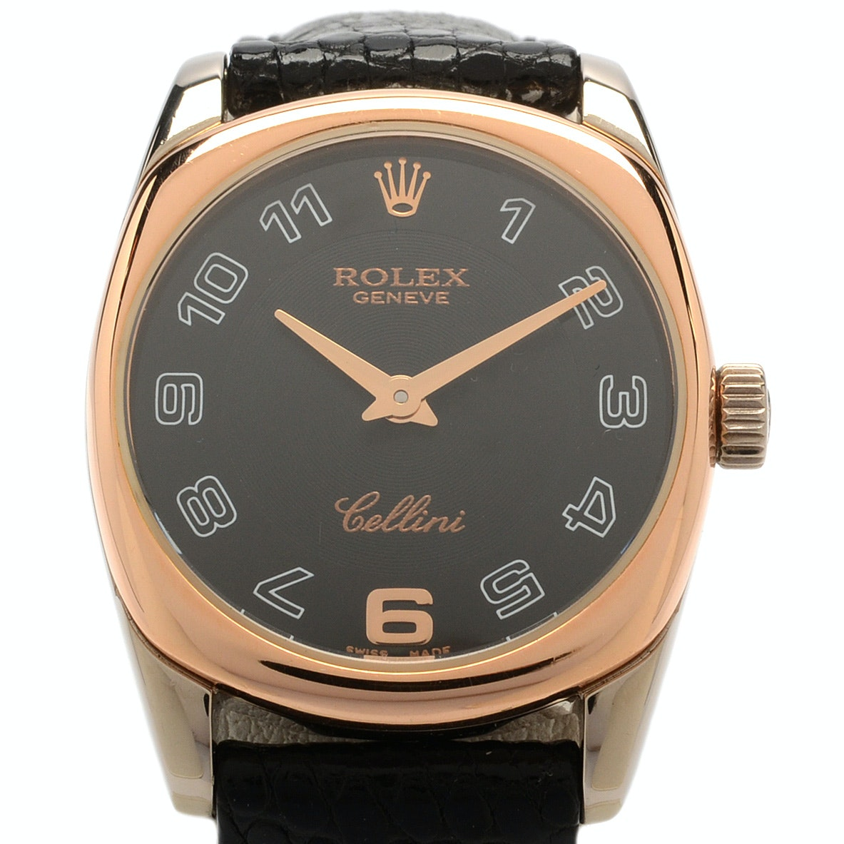 "Rolex ""Cellini Danaos"" 18K Solid Rose and White Gold Wristwatch"