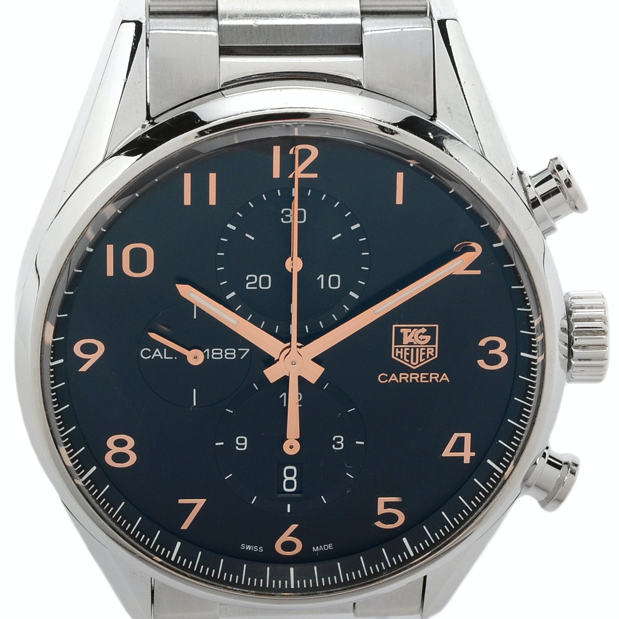 """TAG Heuer """"Carrera Chronograph Calibre 1887"""" Steel Automatic Wristwatch"""