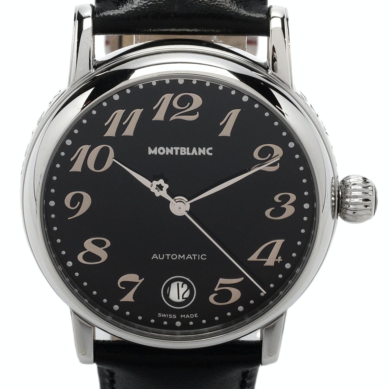 "Montblanc ""Meisterstück"" Date Stainless Steel Automatic Wristwatch"