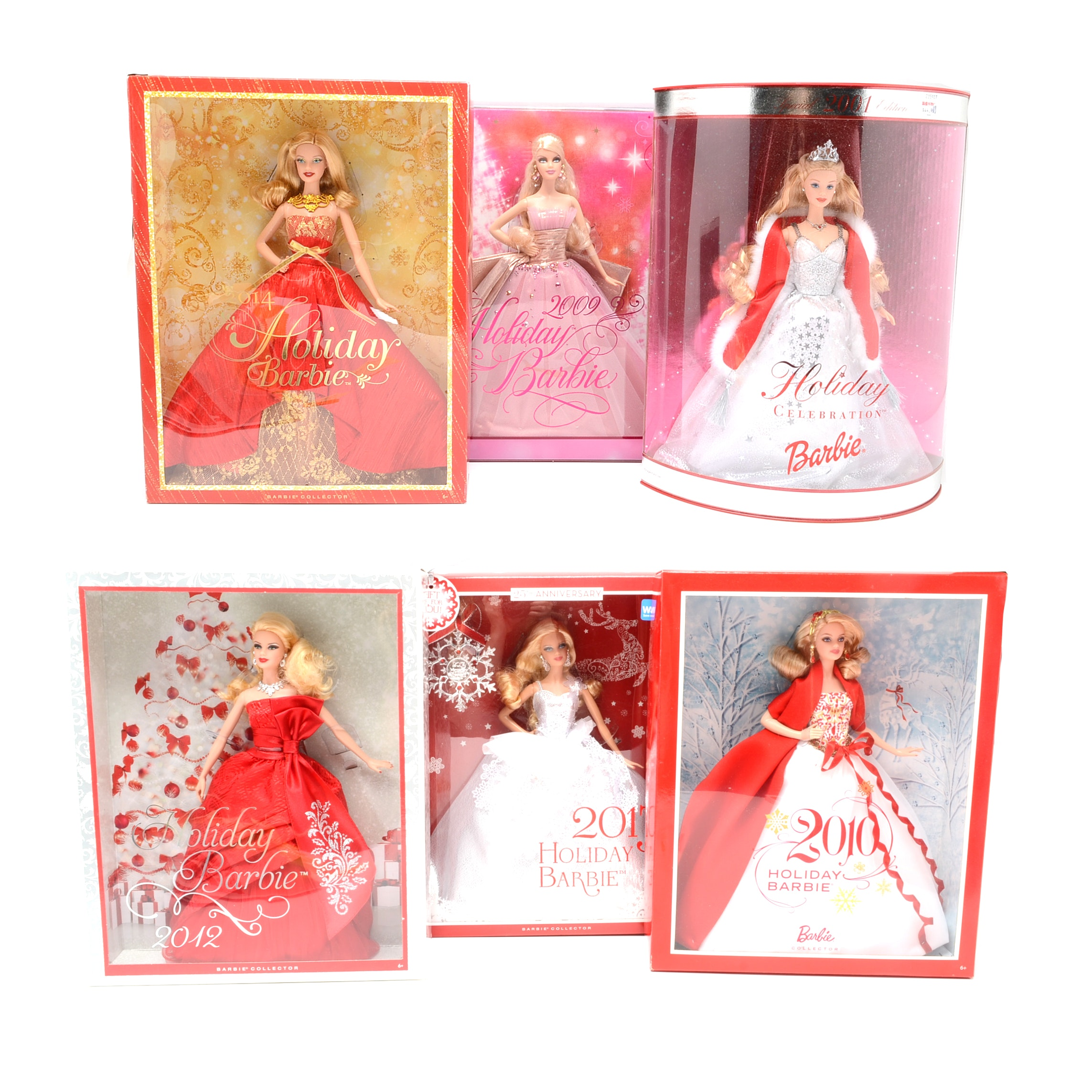 Holiday Barbie's From 2001-2014