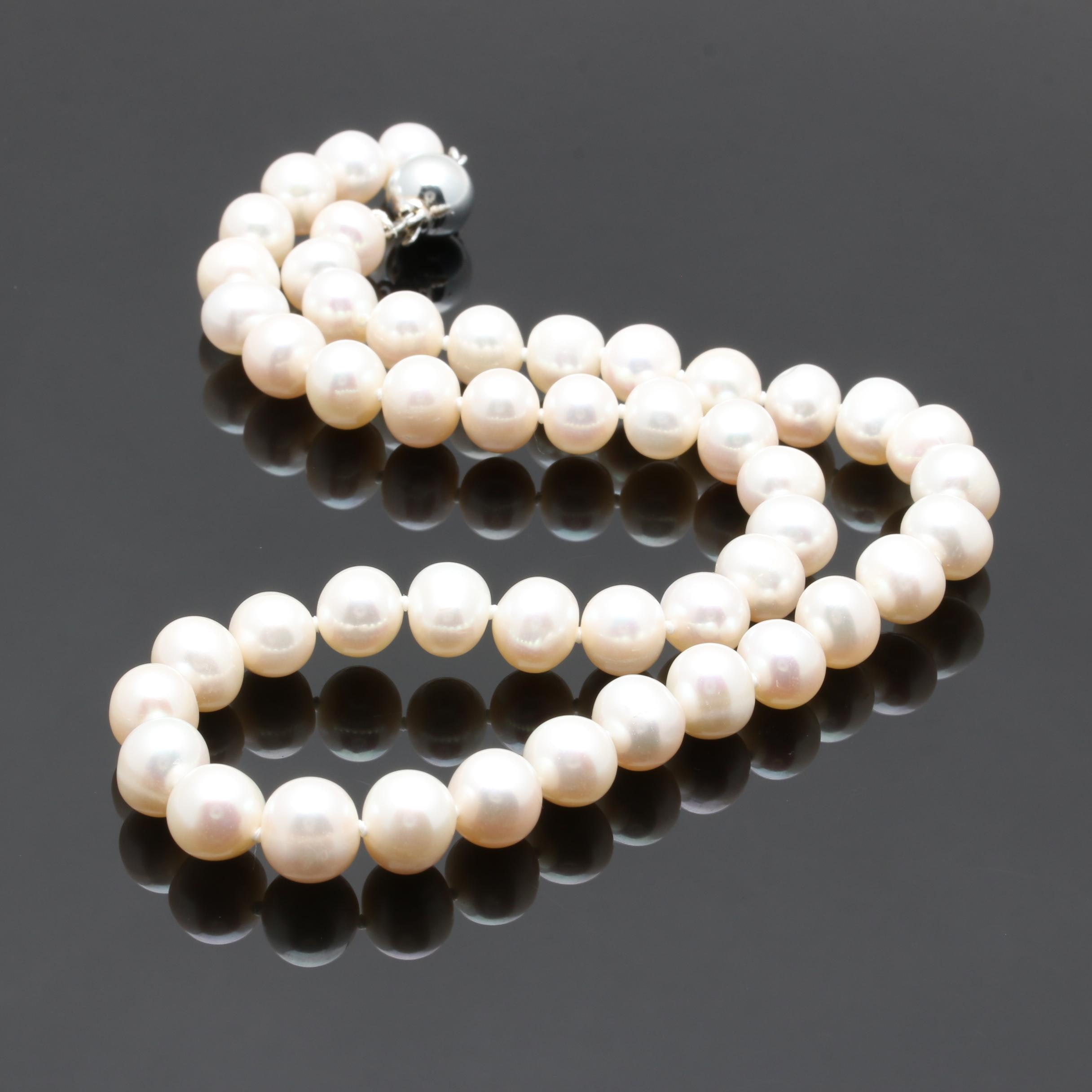 Sterling Silver Cultured Pearl Necklace