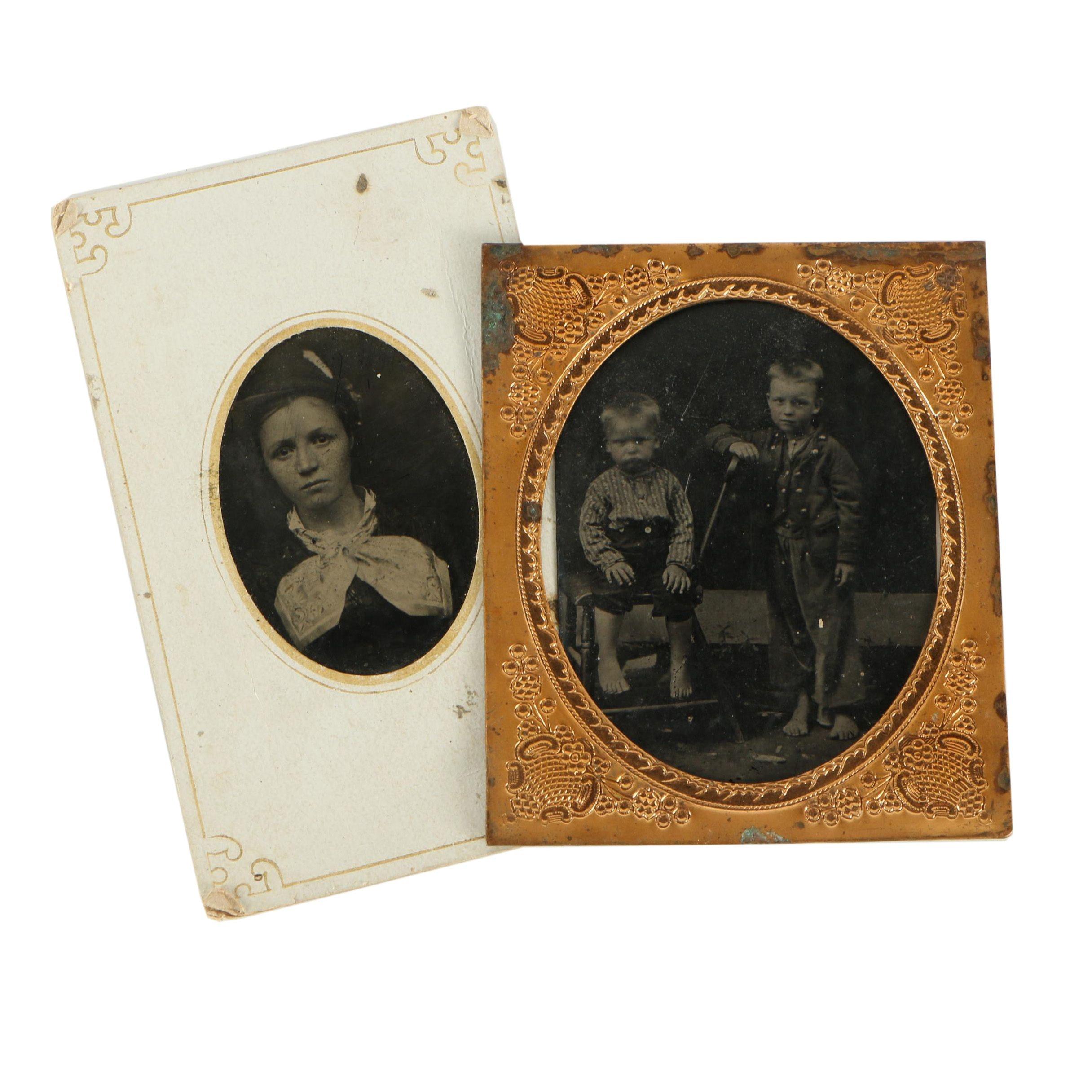 Antique 19th-Century Tintype Photographs
